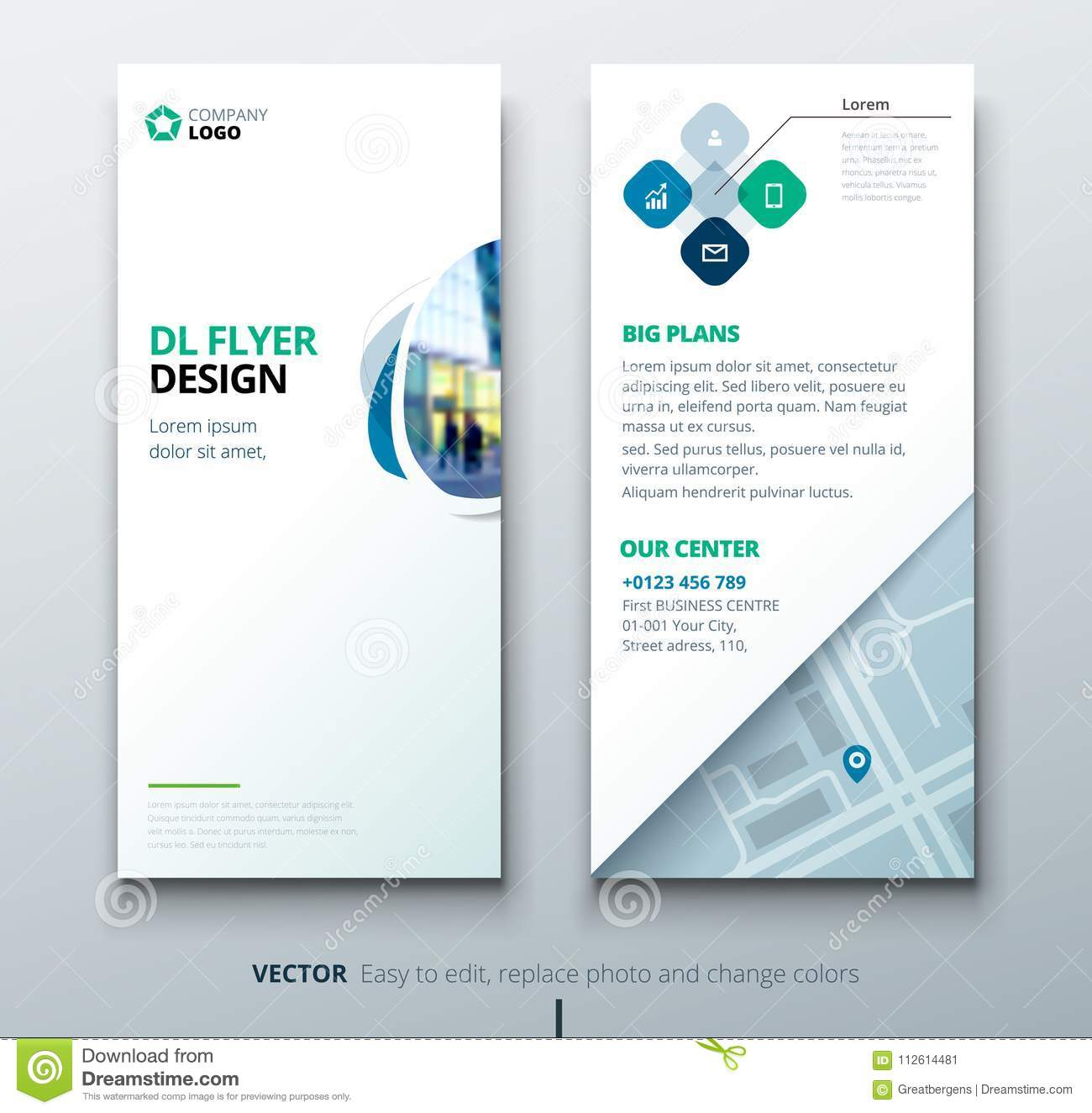 DL Flyer Design. Corporate Business Template For DL Flyer With Color ...