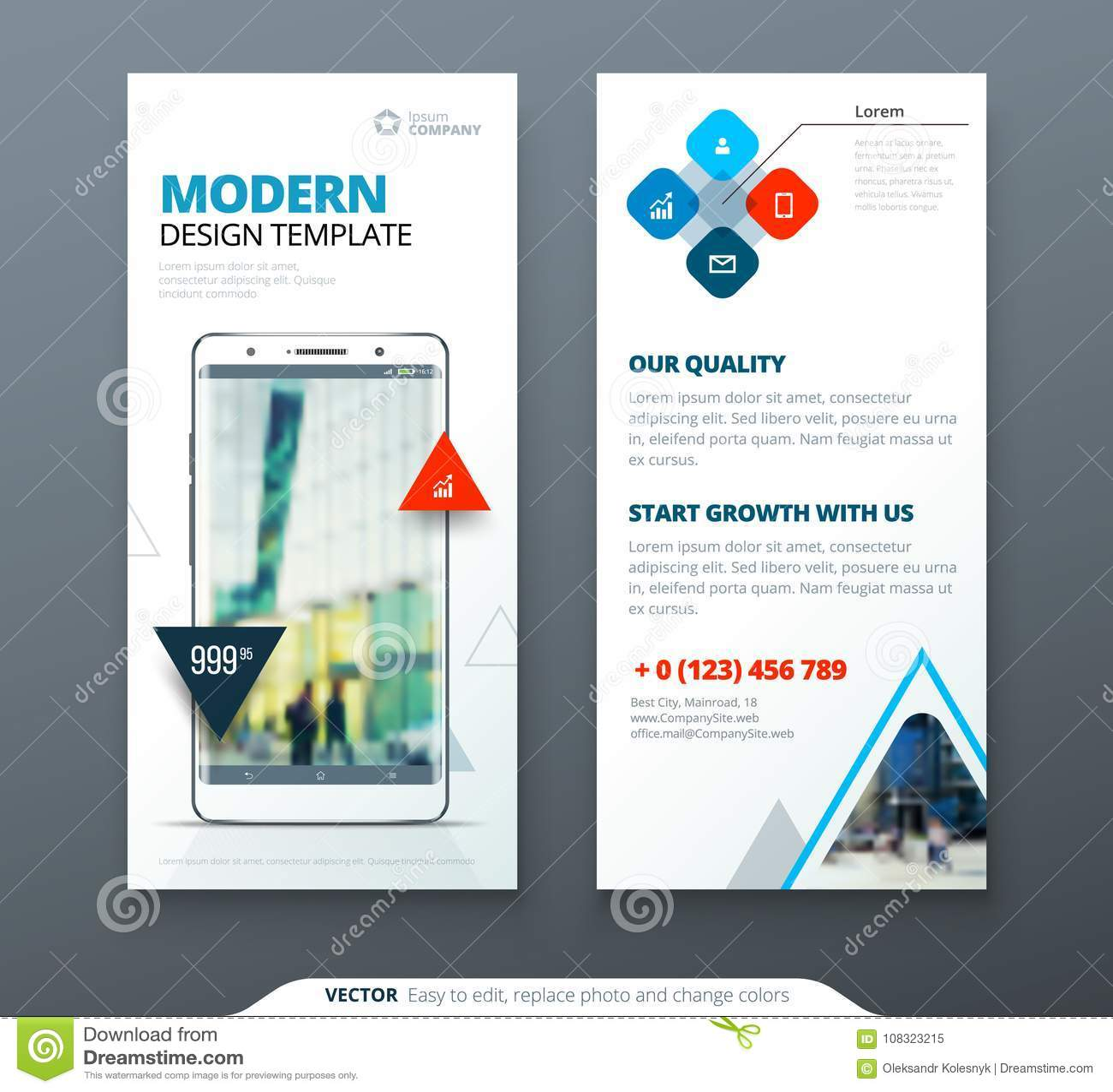 Dl Flyer Design Template Dl Flyer Banner Layout With Modern