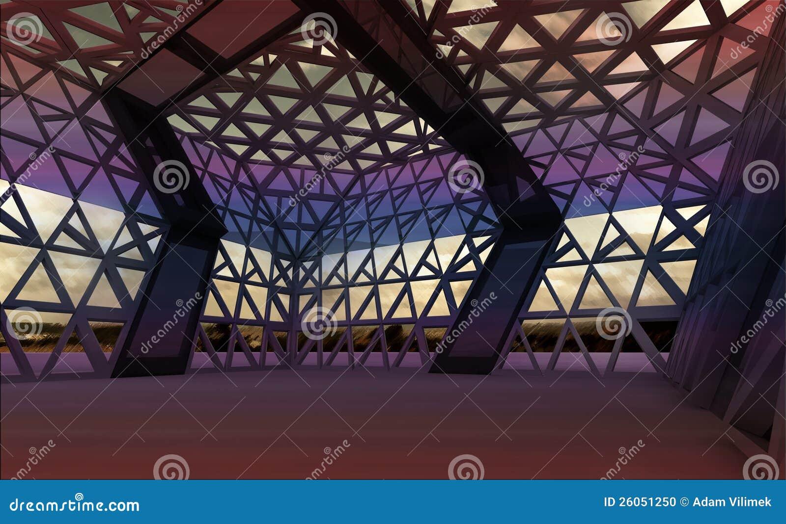 Dla koncerta architektoniczna nowożytna projektująca sala