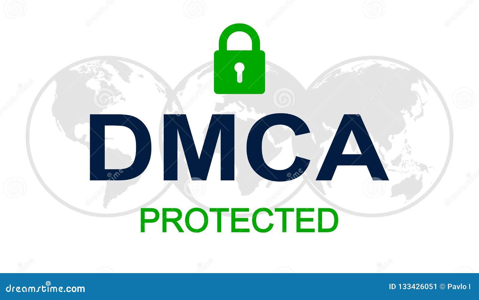 Dmca Digital Millennium Copyright Act Vector Stock