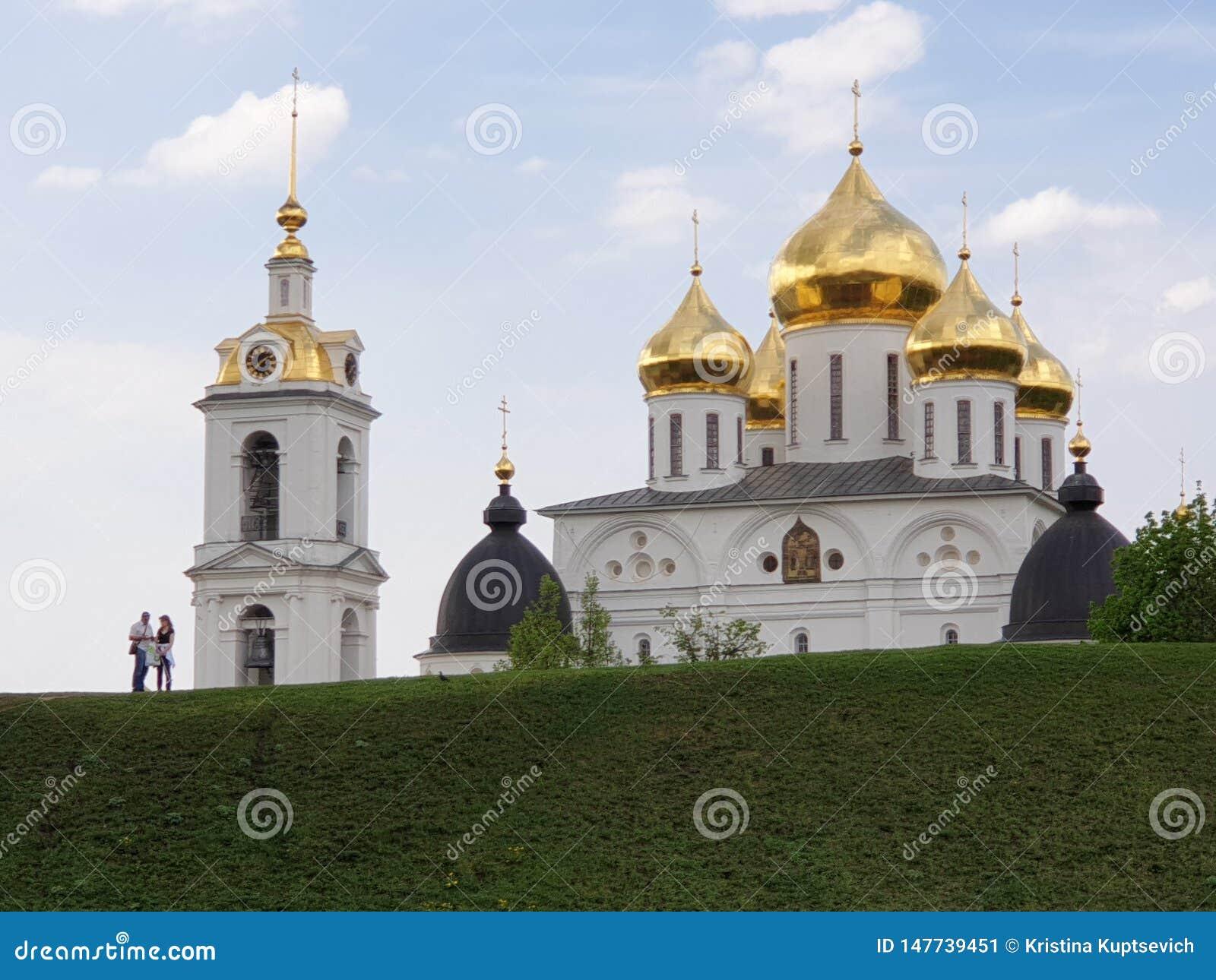 Dmitrov Rússia - 10 de maio de 2019: Kremlin de Dmitrov