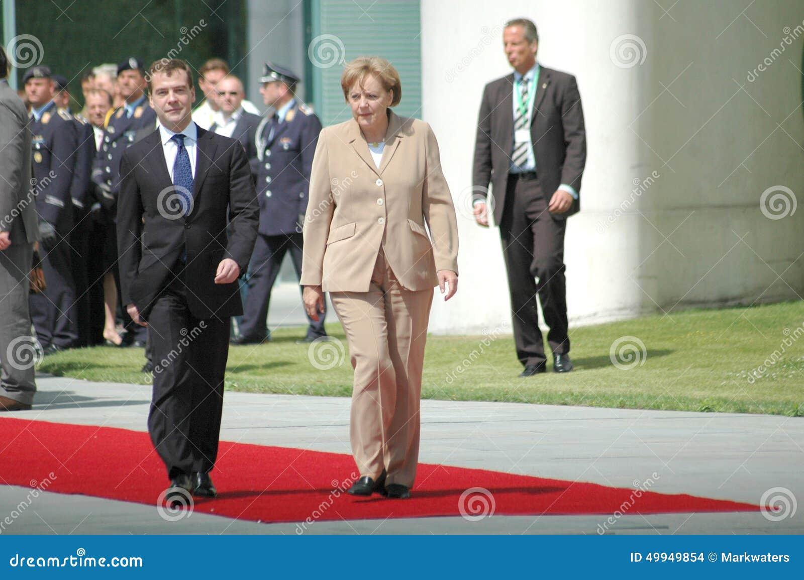 Dmitry Medvedev (Dmitri Medwedew), Kanzler Angela Merkel