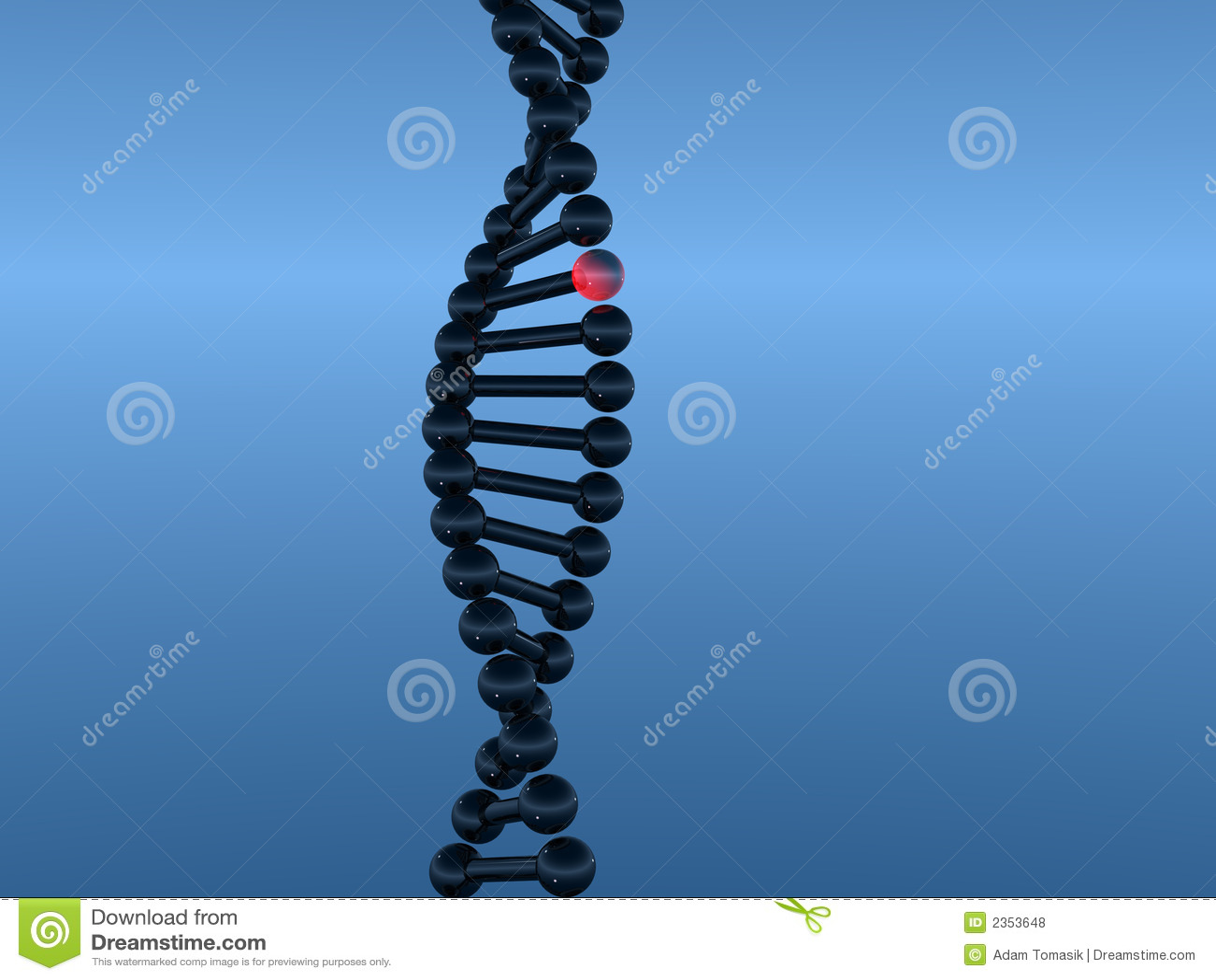 DNA 1 stock de ilustración. Ilustración de anatomía, cierre - 2353648
