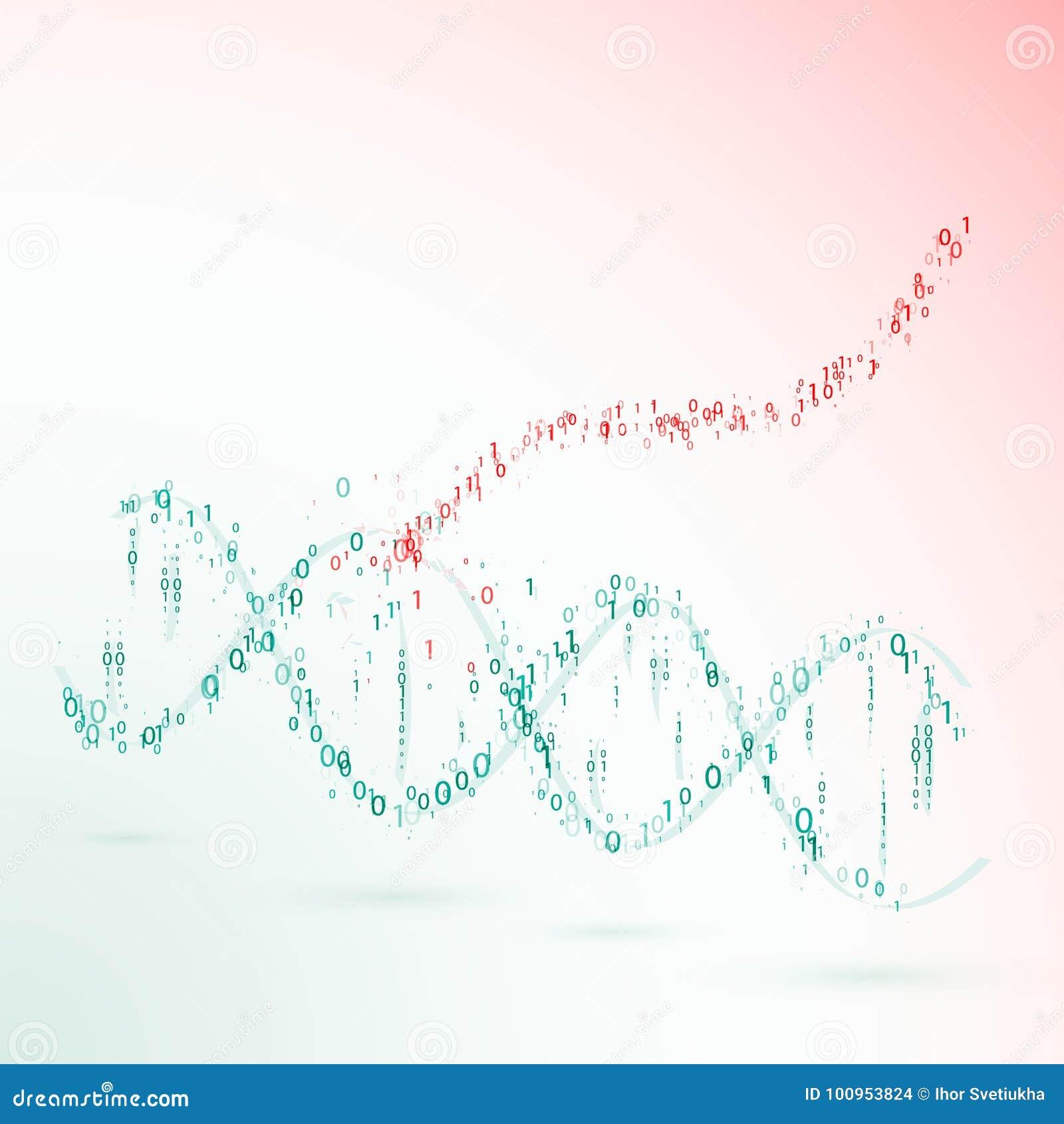 Dna binär kod VIRUS vektor