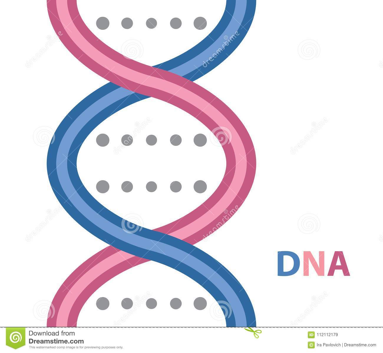 DNA cartoon icon