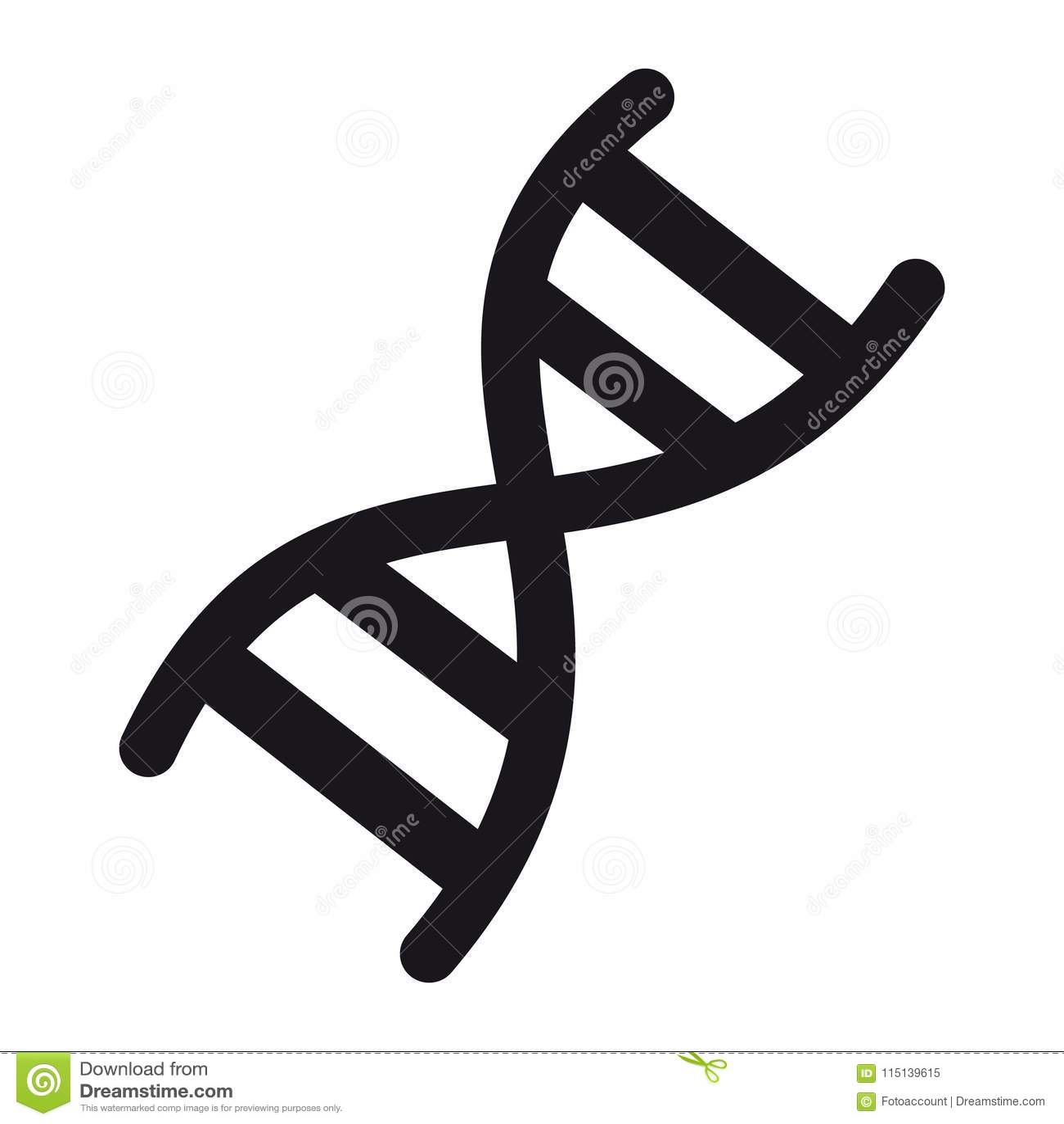 DNA-Chromosom-Ikone - Vektor-Illustration - lokalisiert auf Weiß