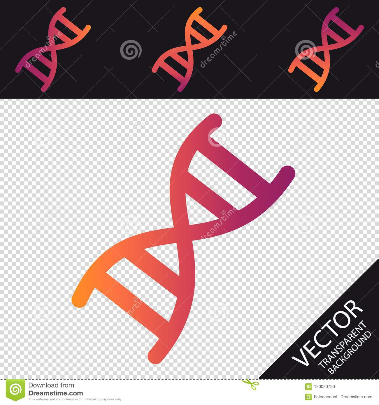 dna chromosome icon - retro hipster vector illustration - isolated