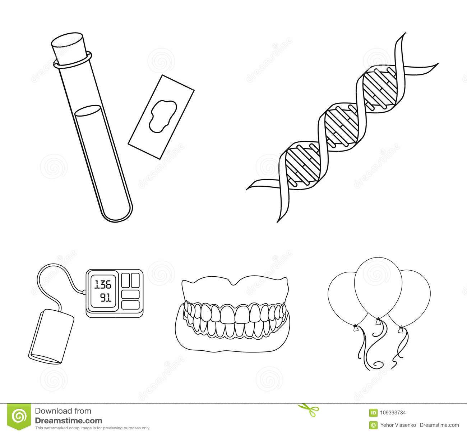 Dna code blood test in vitro denture tonometer medicine set dna code blood test in vitro denture tonometer medicine set collection icons in outline style vector symbol stock buycottarizona Images