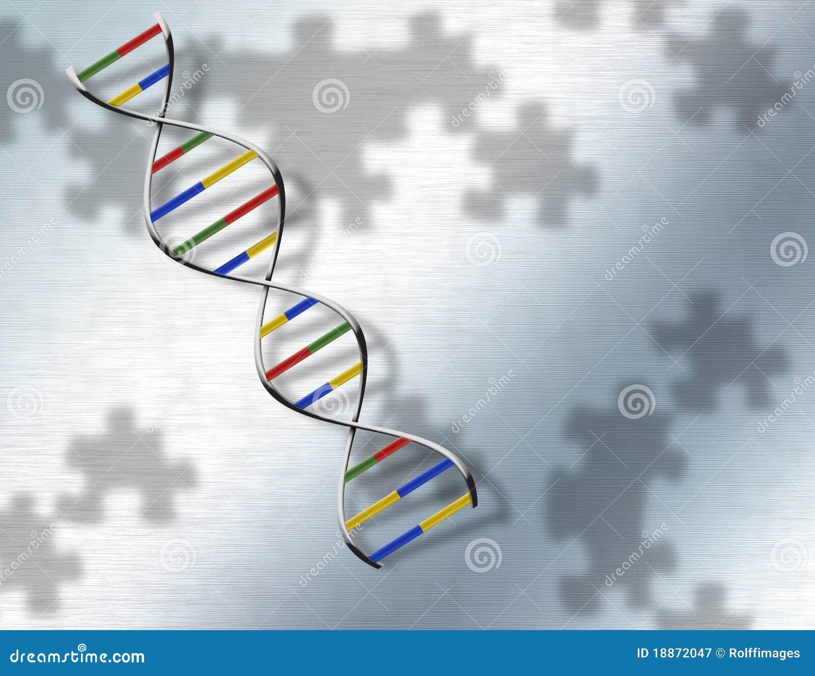 DNA di puzzle su acciaio