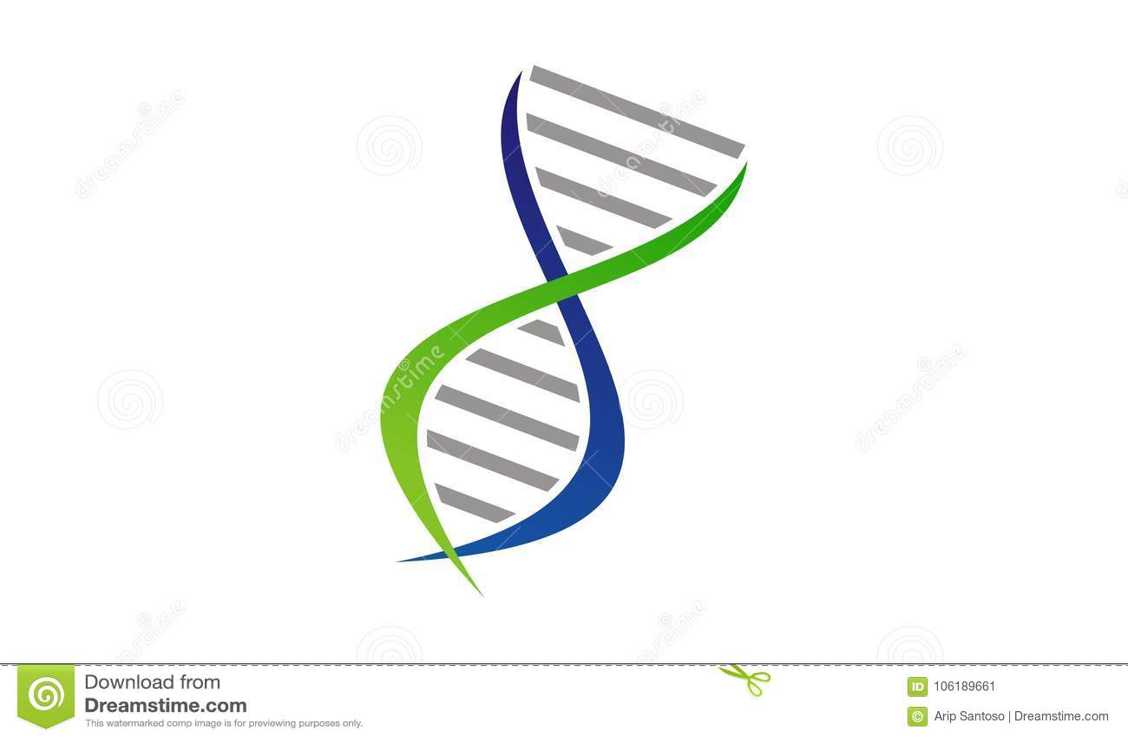 DNA Genetics Logo Design Template Stock Vector - Illustration of ...