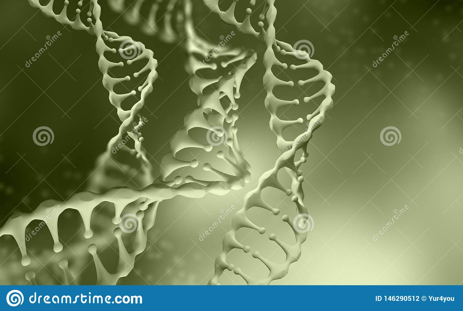 DNA Genome Research  DNA Molecule Structure  3D Double Helix