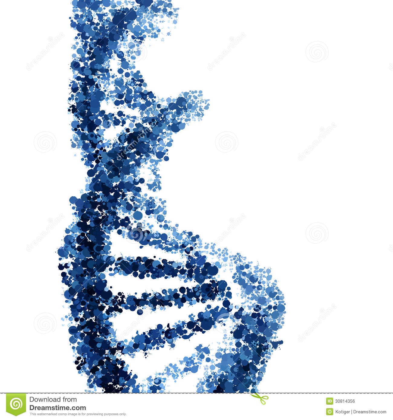Dna Model Wallpaper: DNA Helix Isolated On White Royalty Free Stock Image