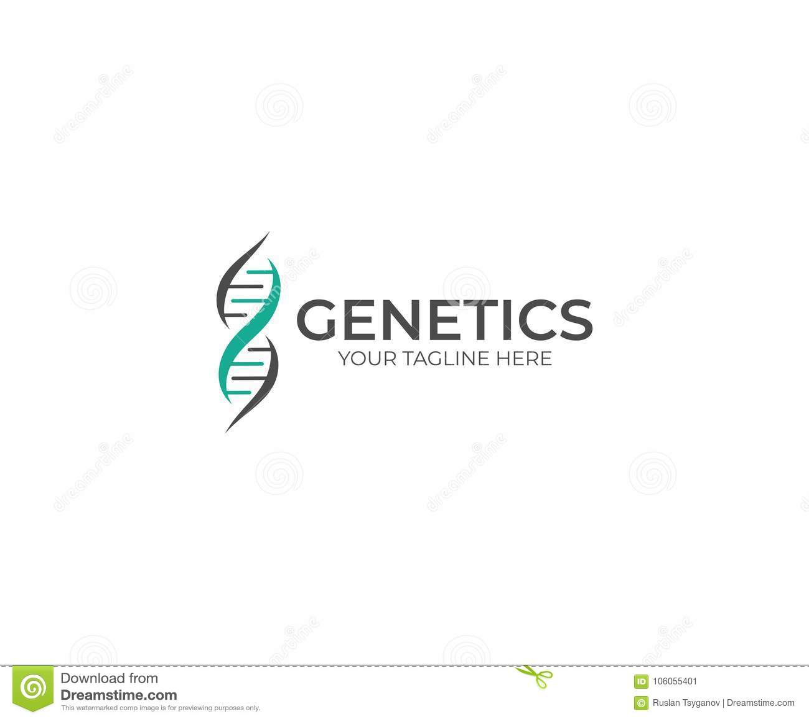 Dna Template   Dna Helix Logo Template Genetik Vektor Design Vektor Abbildung