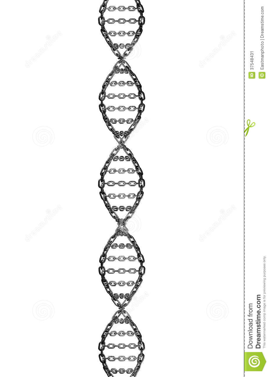 dna helix metal chain link stock illustration  image of