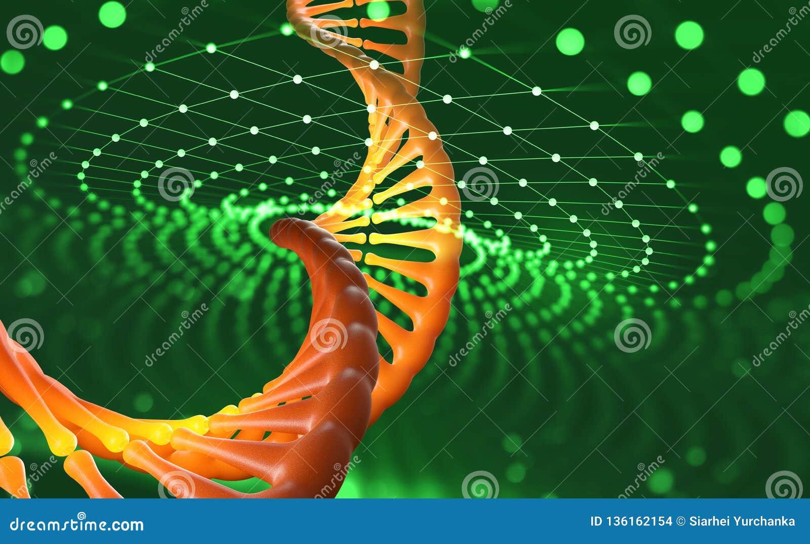 DNA helix Nowatorskie technologie w badaniu ludzki genom Sztuczna inteligencja w medycynie przyszłość