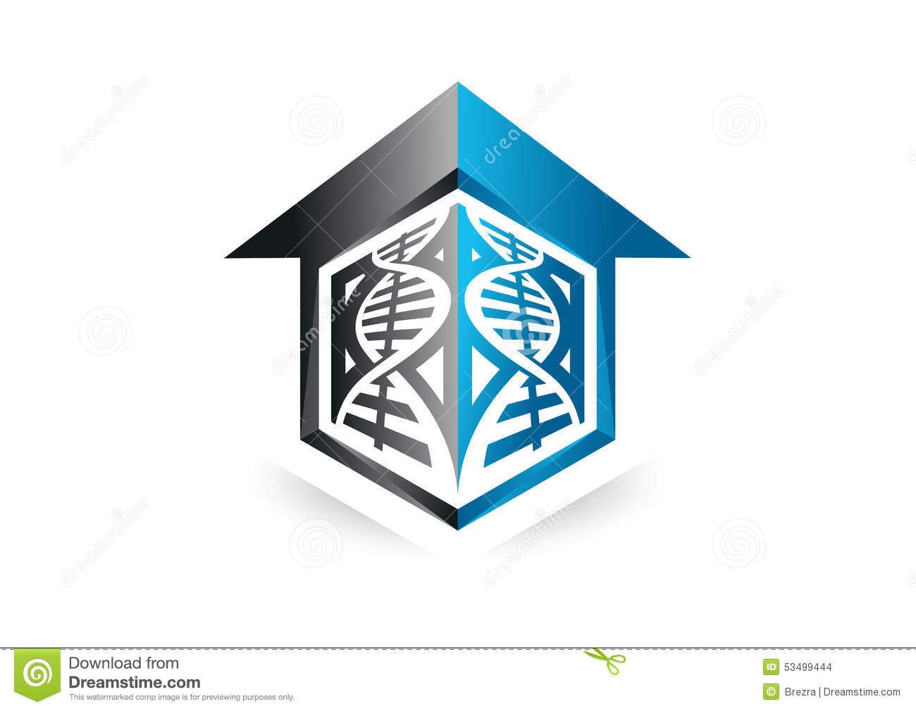 Dna lab home house modern business logo stock vector for Modern house logo