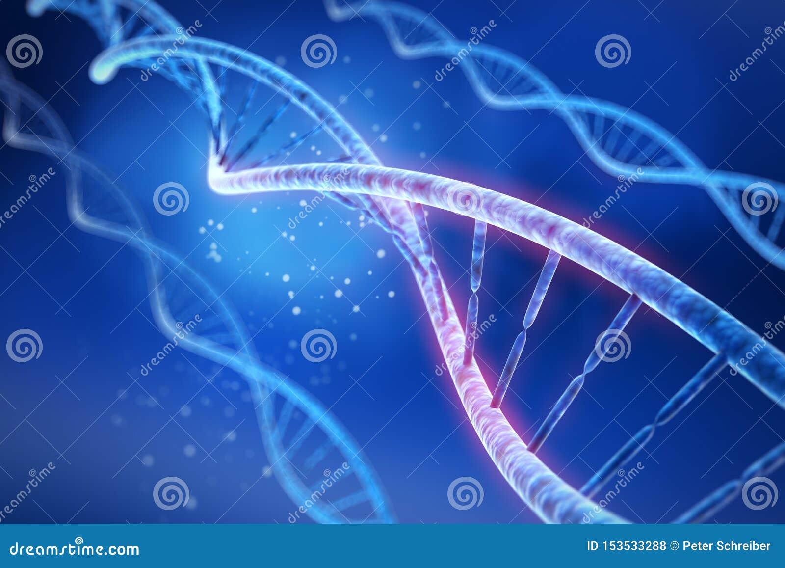 DNA - medizinische Illustration 3D