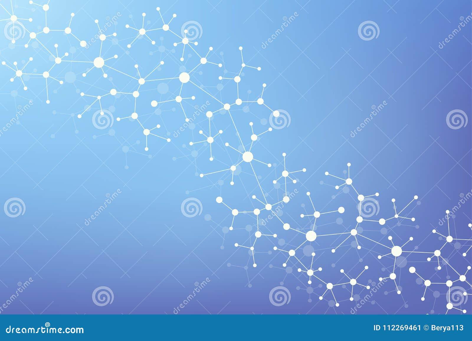 Dna Moderna De La Molécula De La Estructura átomo Molécula Y