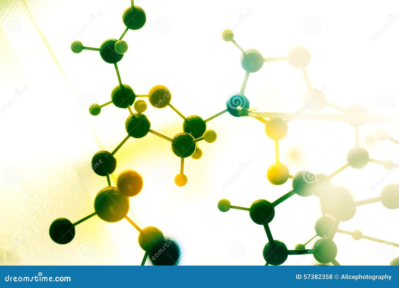 DNA, molecule in de test van het laboratoriumlaboratorium