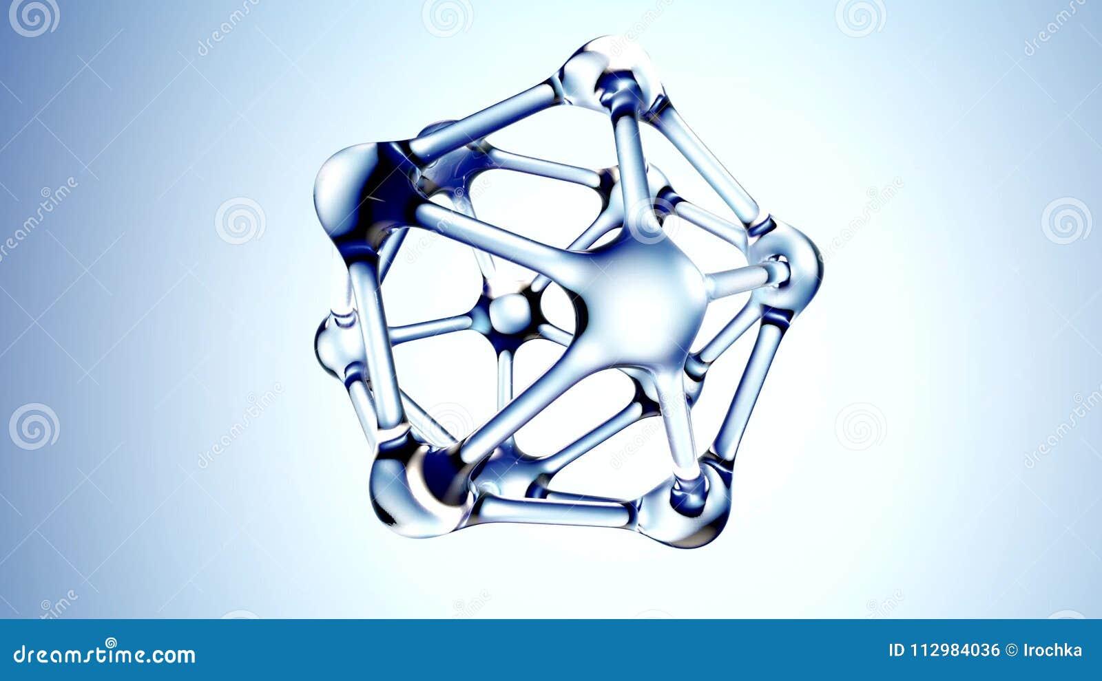 DNA molecule made of water 3d illustration