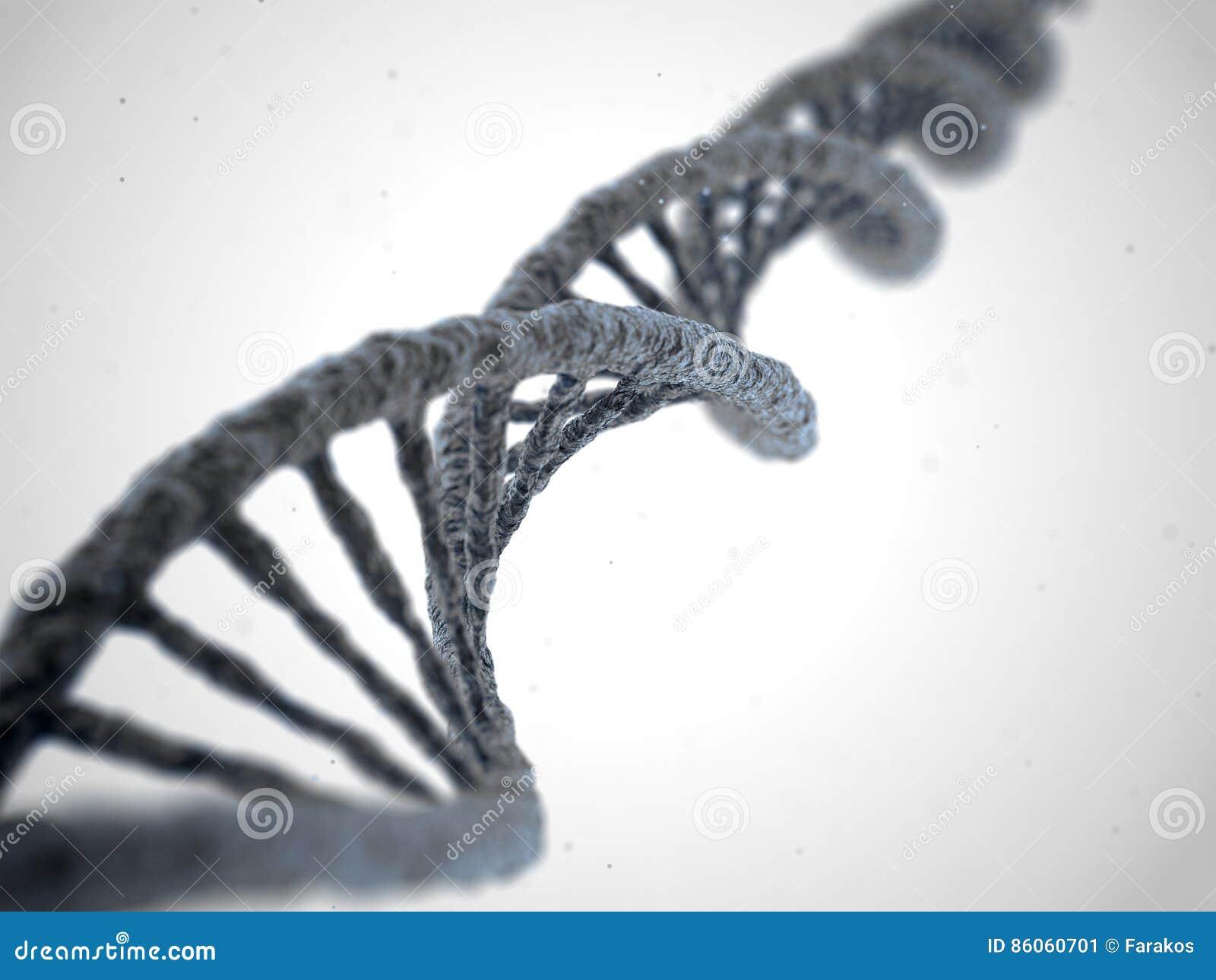DNA-Molekül auf weißem Hintergrund