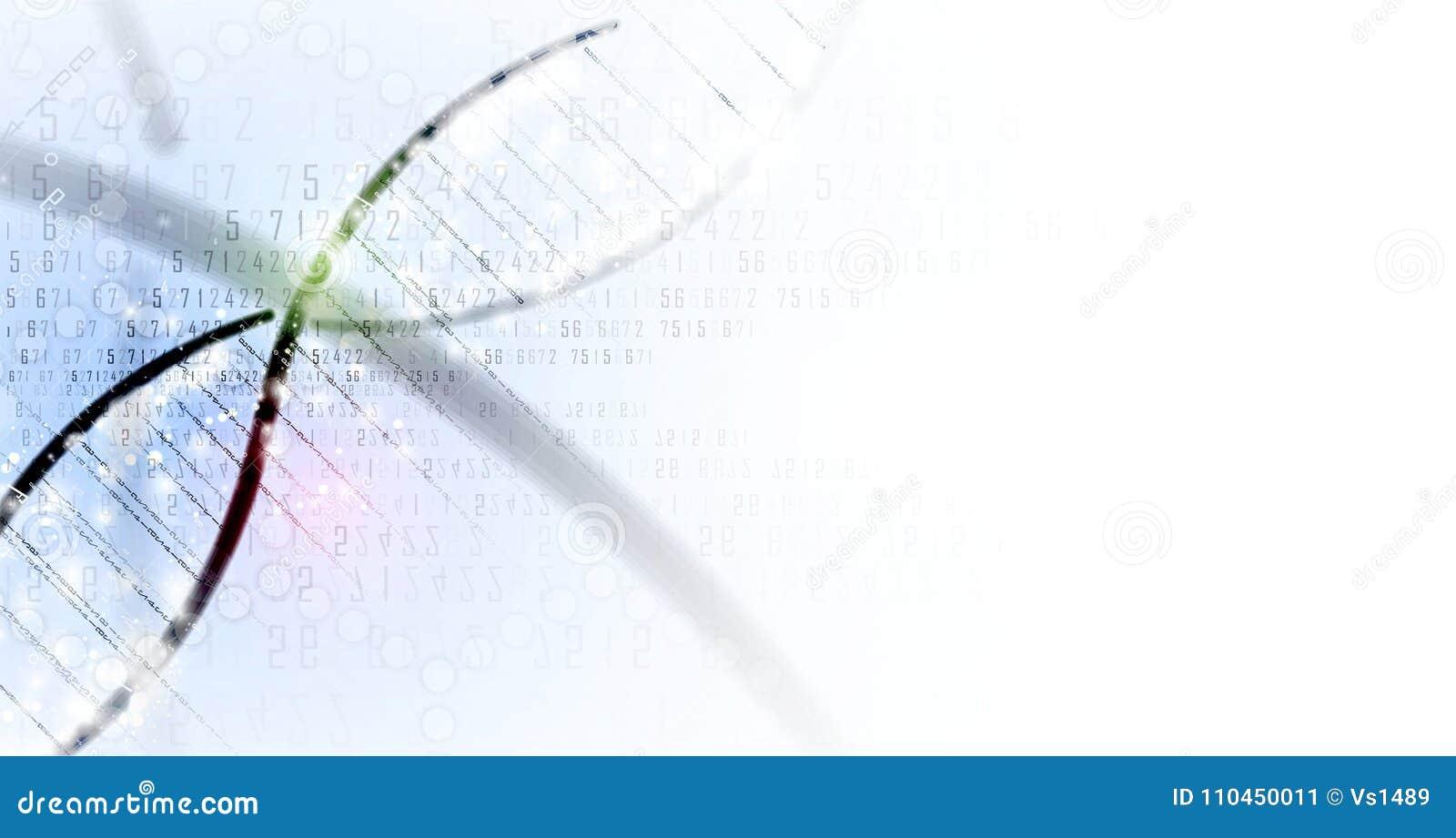 Dna- och läkarundersökning- och teknologibakgrund futuristisk molekyl s