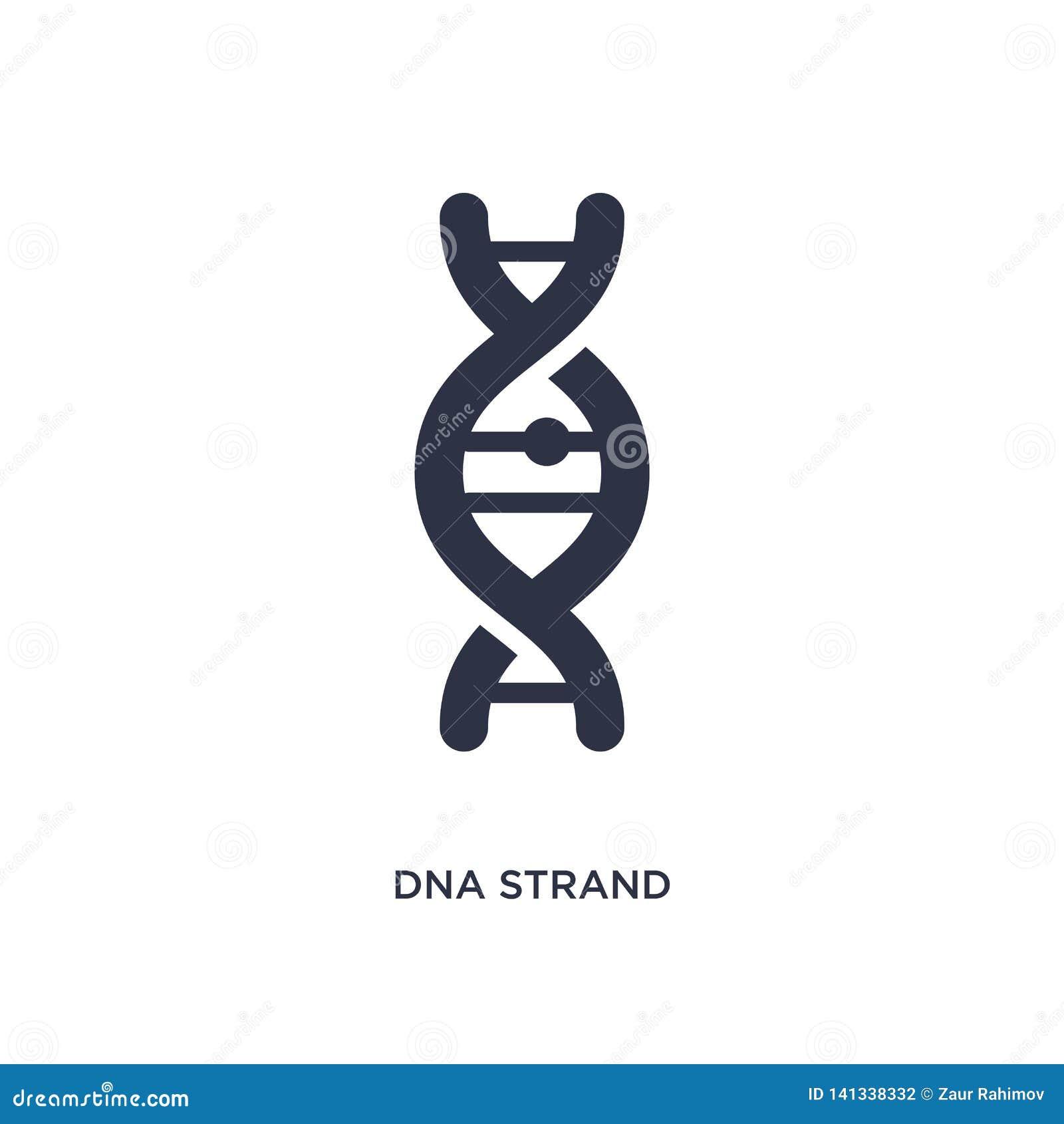 DNA-Strangikone auf weißem Hintergrund Einfache Elementillustration vom Ausbildungskonzept