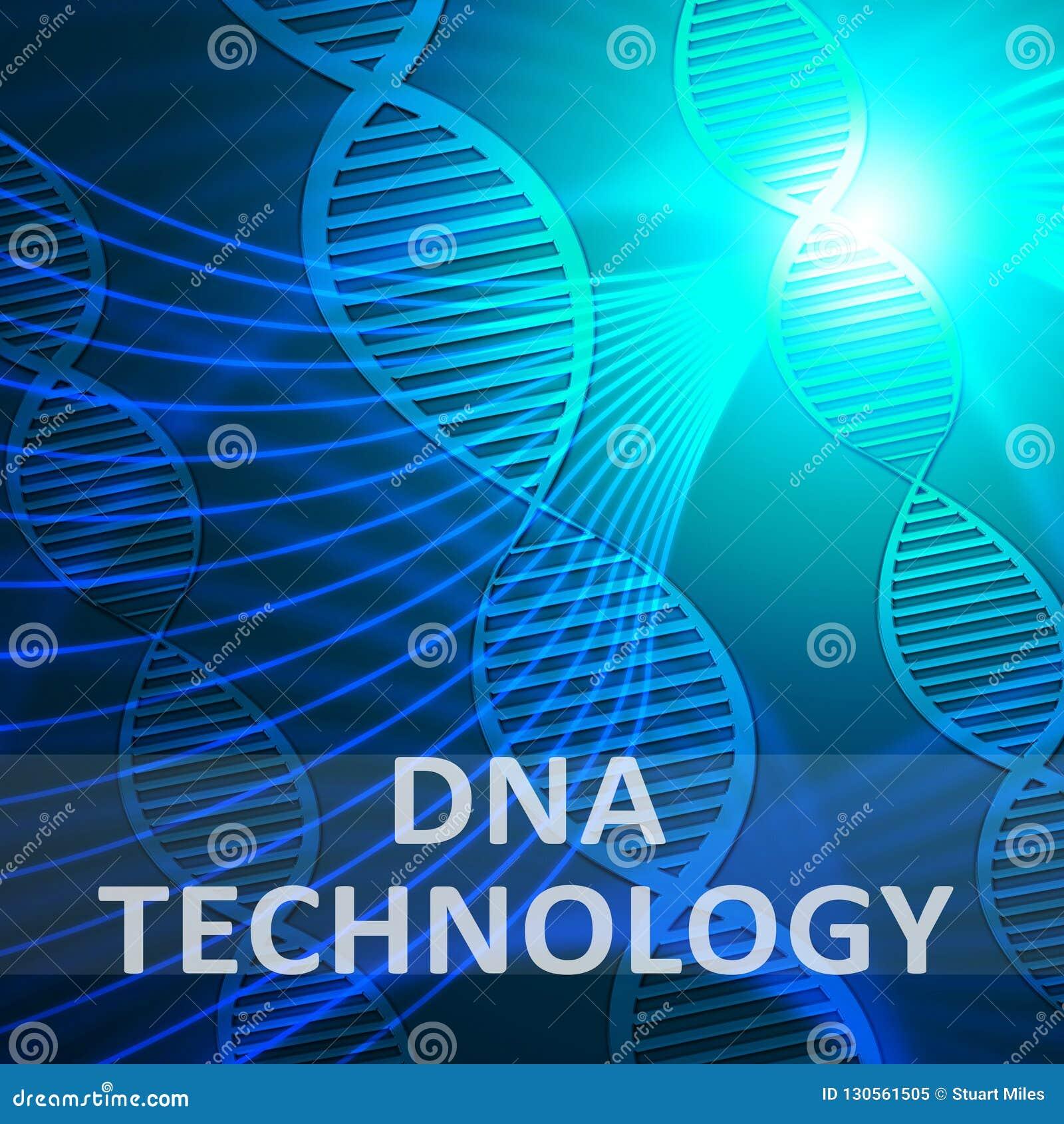 Dna technologia Pokazuje Genetyczną techniki 3d ilustrację