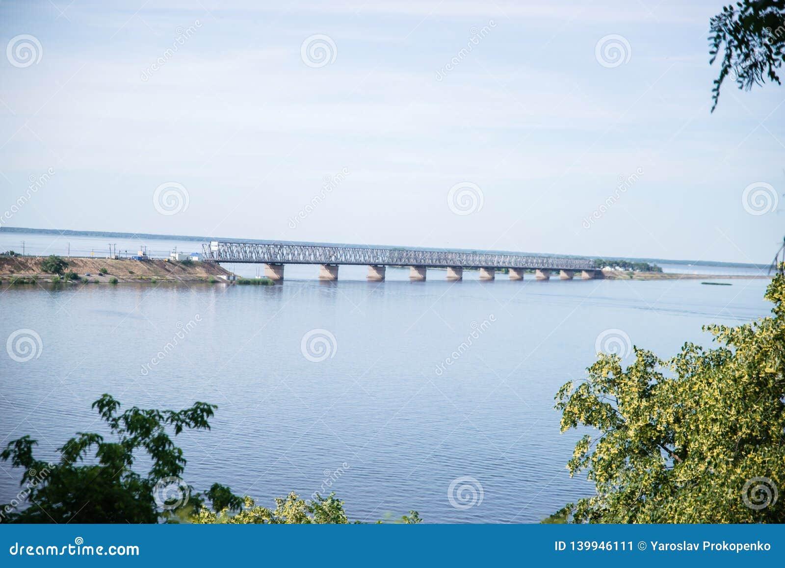 Dnepr River. On a summer sunny day. Cherkassy.