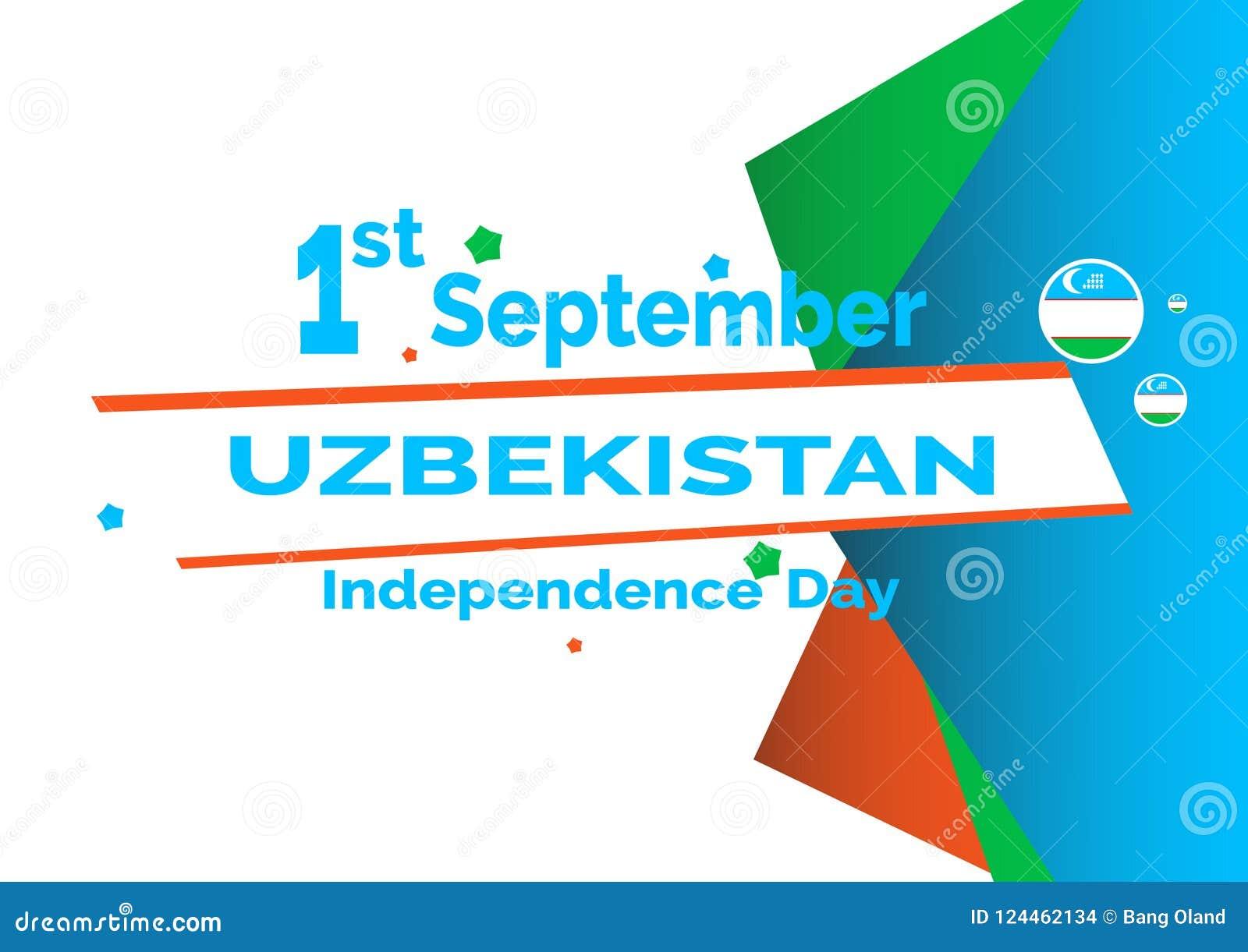 Dnia Niepodległości Uzbekistan flaga tło 10 eps ilustracyjny osłony wektor