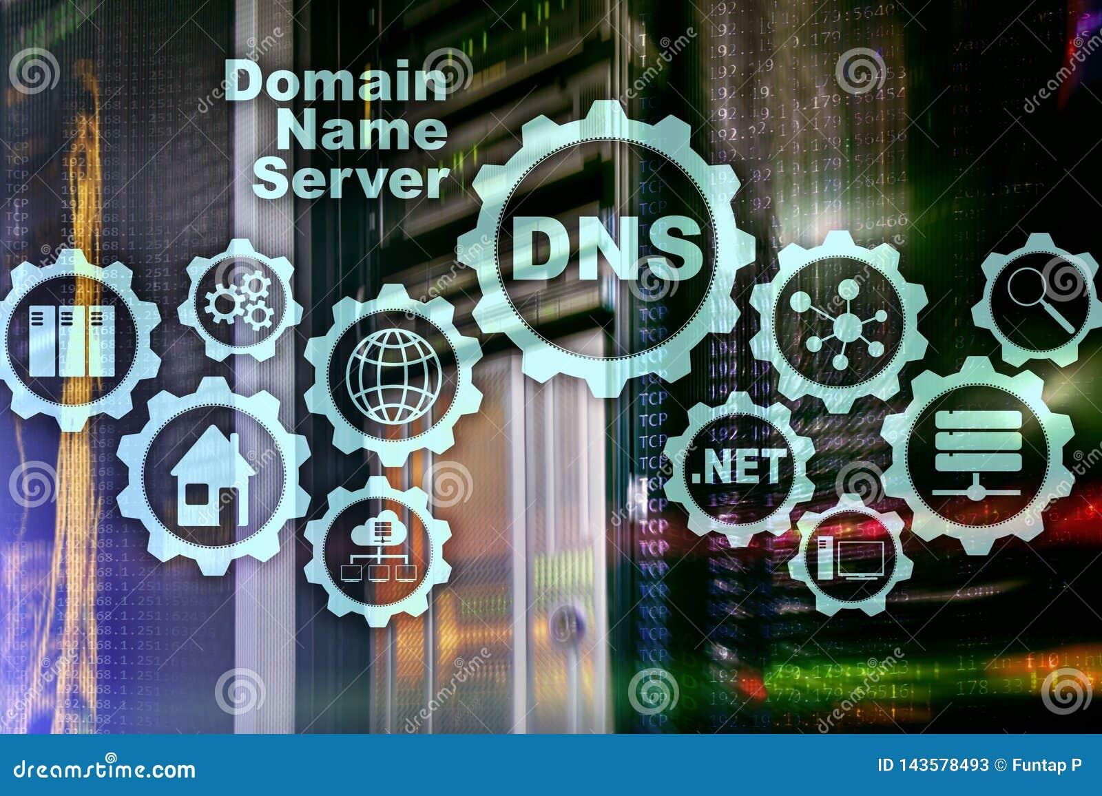 DNS 域名系统 网络网通信 互联网和数字技术概念