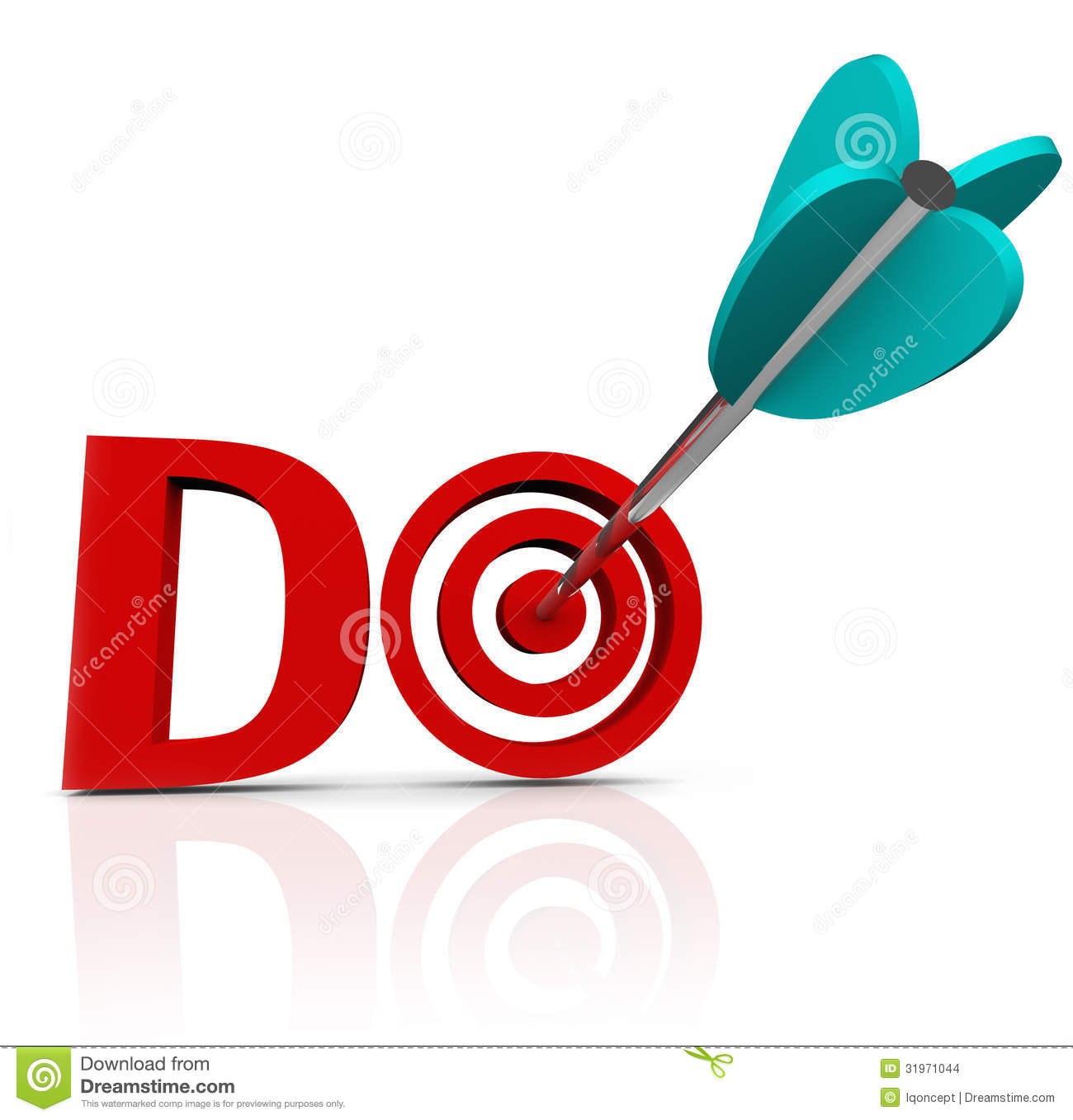 Do Arrow In 3D Word Take Action Go Forward Stock