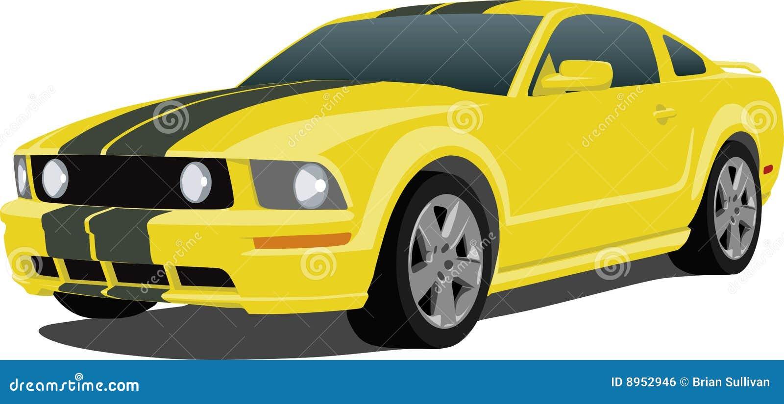 Do Mustang Carro 2005 De Esportes Imagem De Stock Royalty