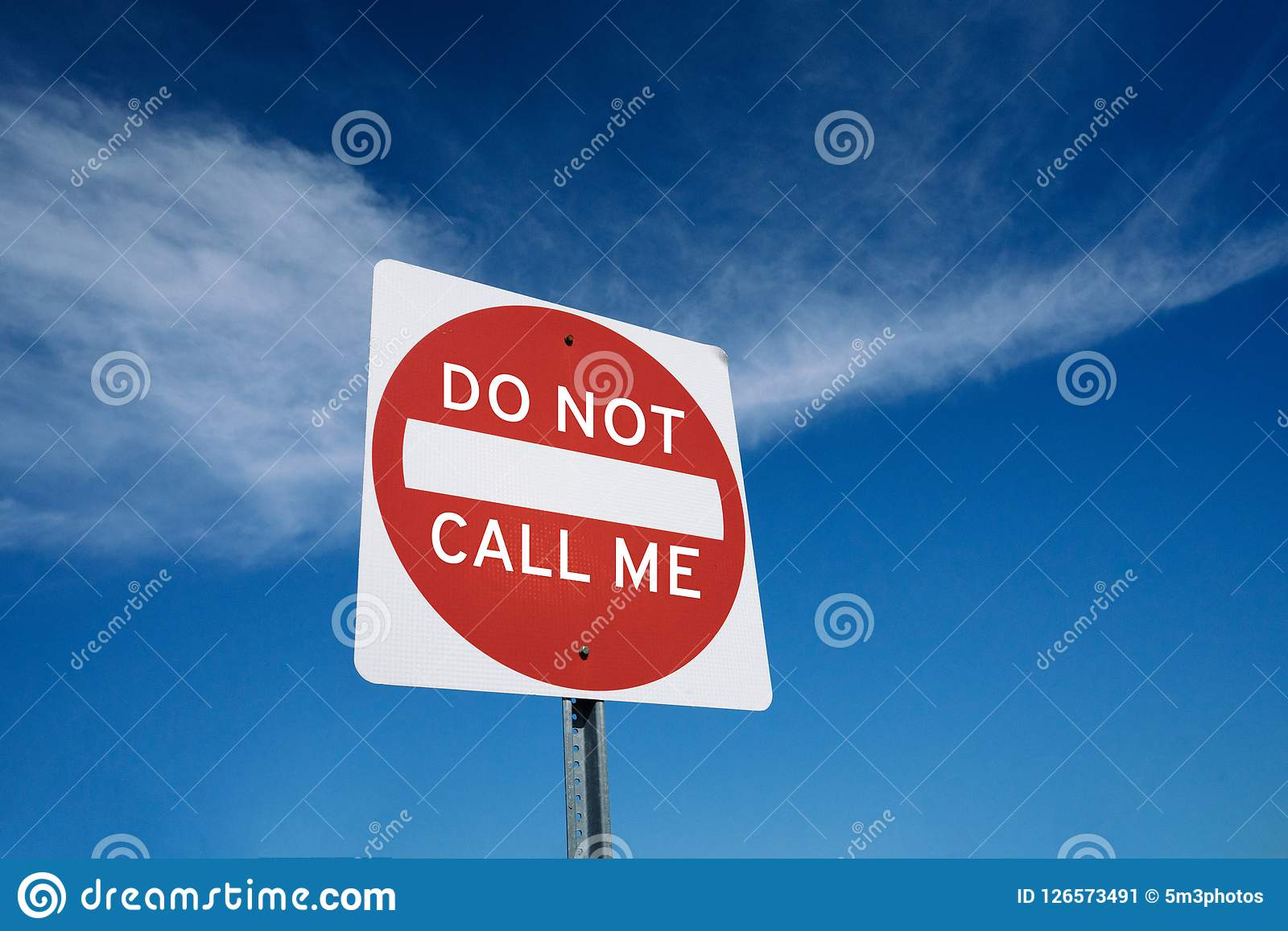 do not call list sign metaphor concept stock image - image of safety