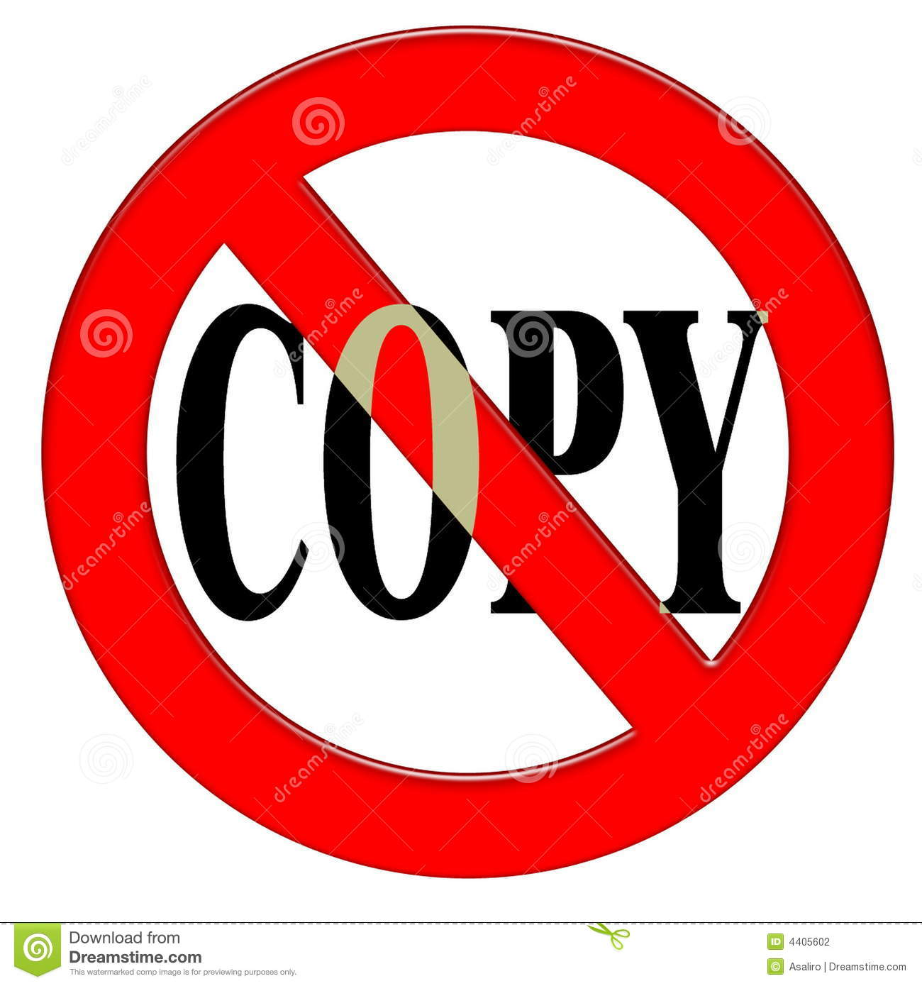 Do Not Copy Stock Photography - Image: 4405602