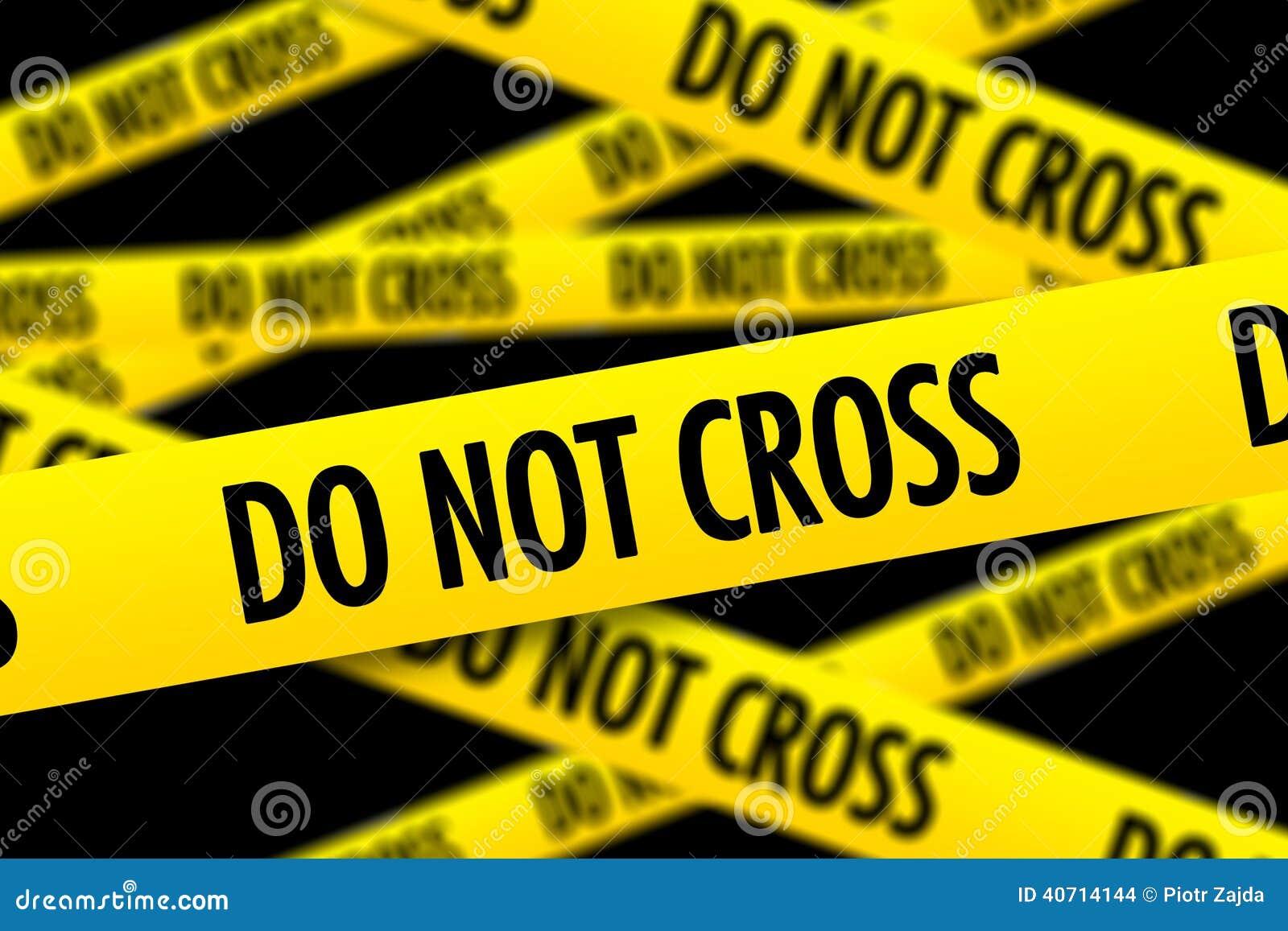 do not cross police tape stock illustration illustration of