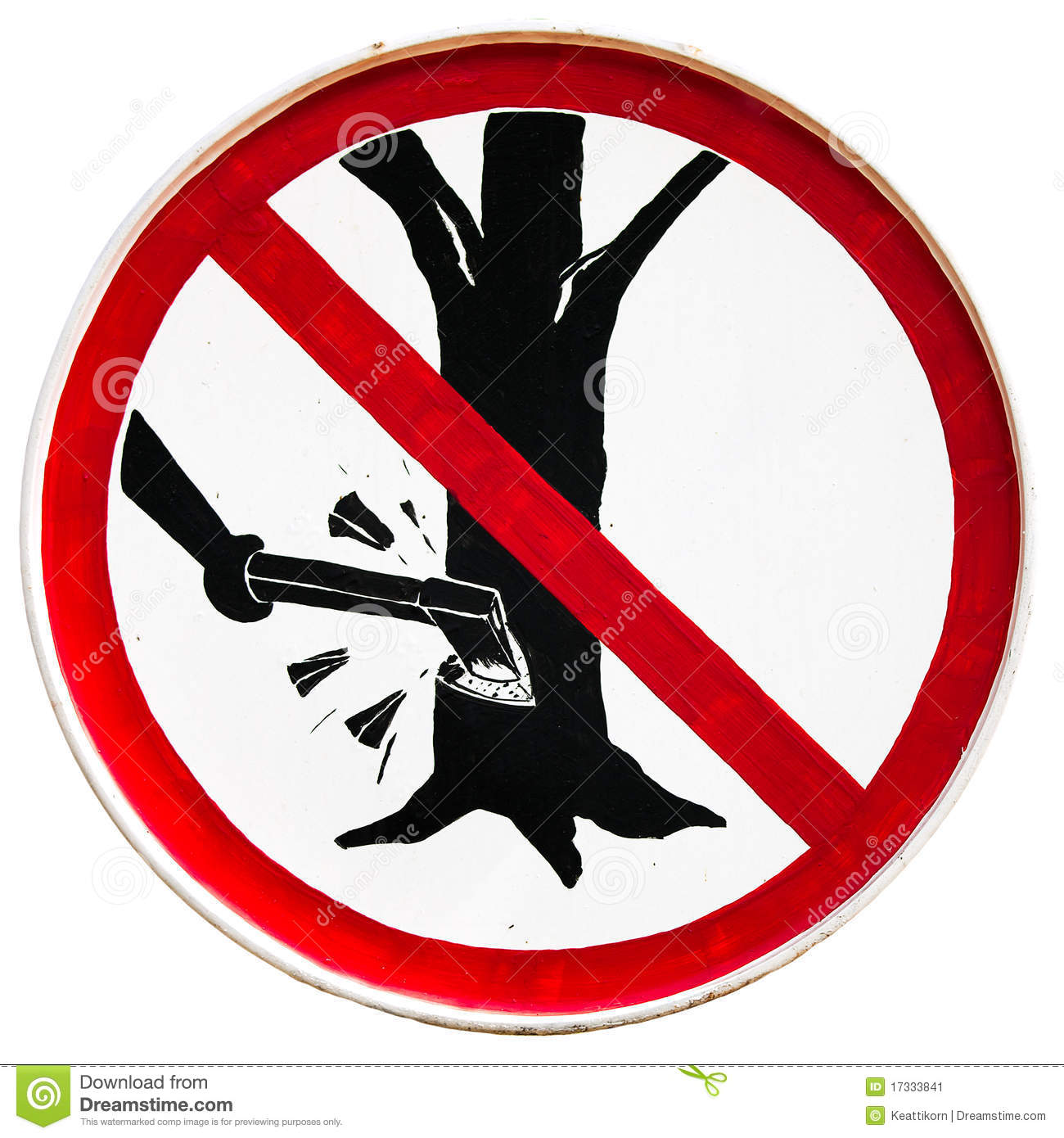 Do Not Cut Tree Sign Stock Image - Image: 17333841