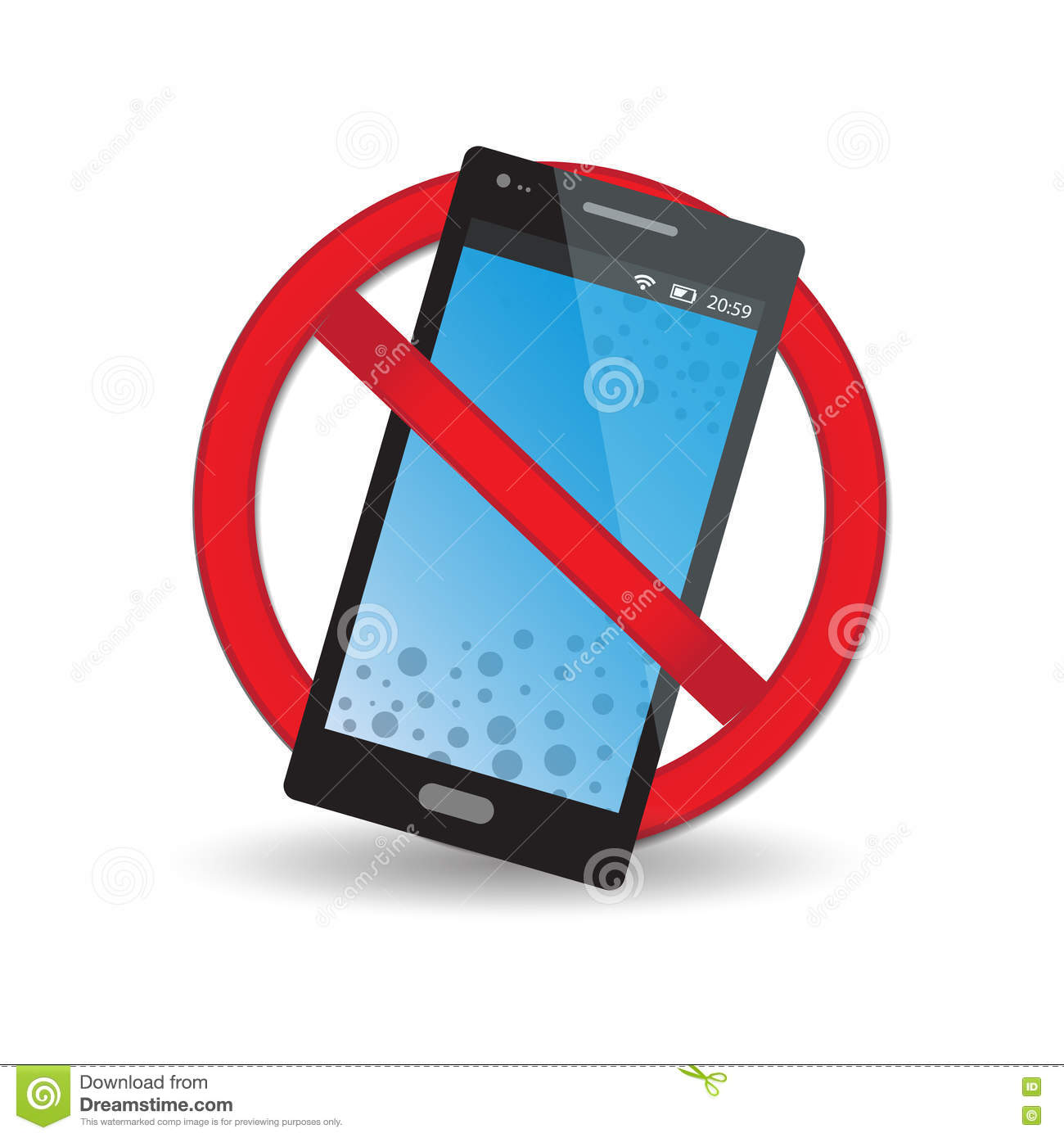 Do Not Disturb The Call Barring Icon Stock Vector