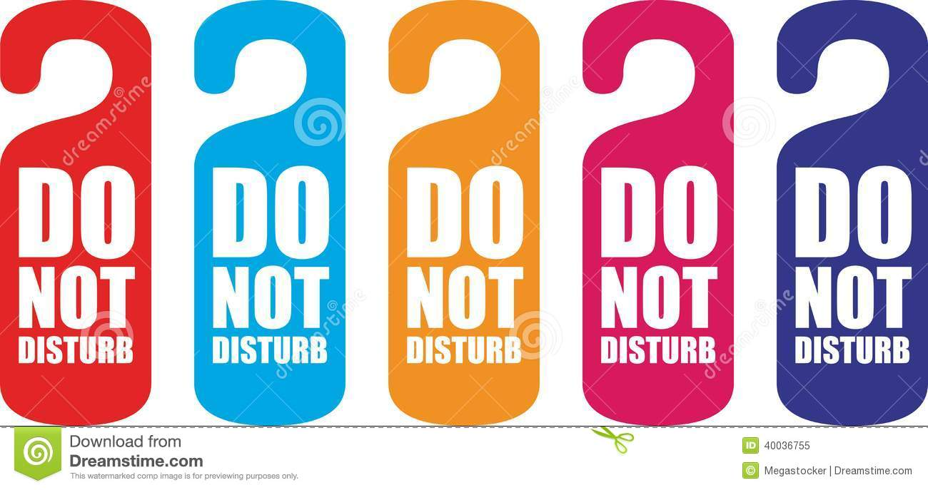 Do Not Disturb Door Hanger Stock Vector Illustration Of