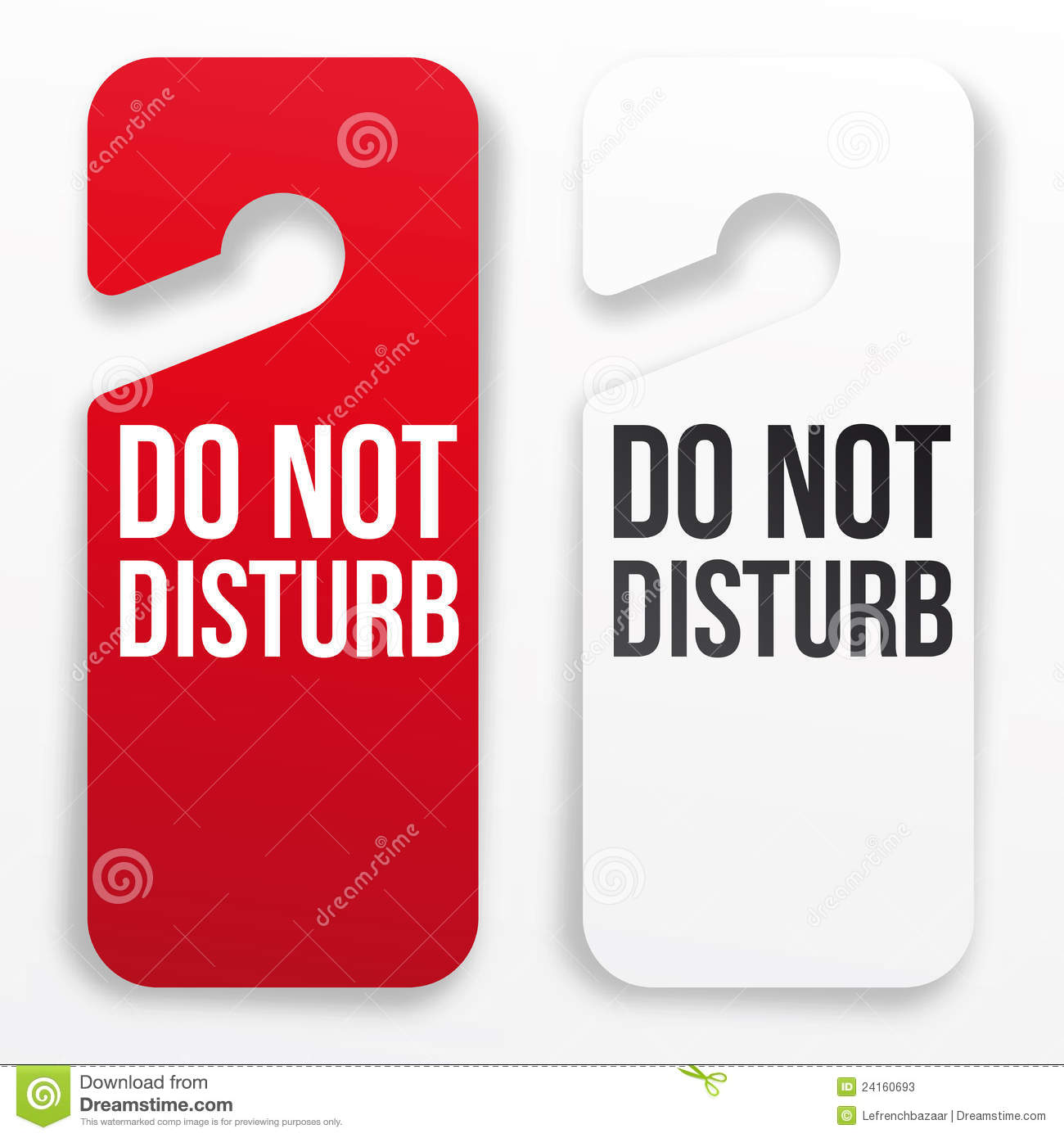 Do Not Disturb Hotel Door Hanger Stock Illustration