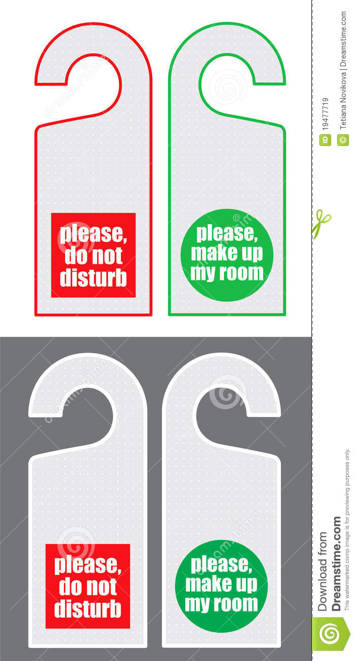 Do not disturb and make up my room cards royalty free for Make my room