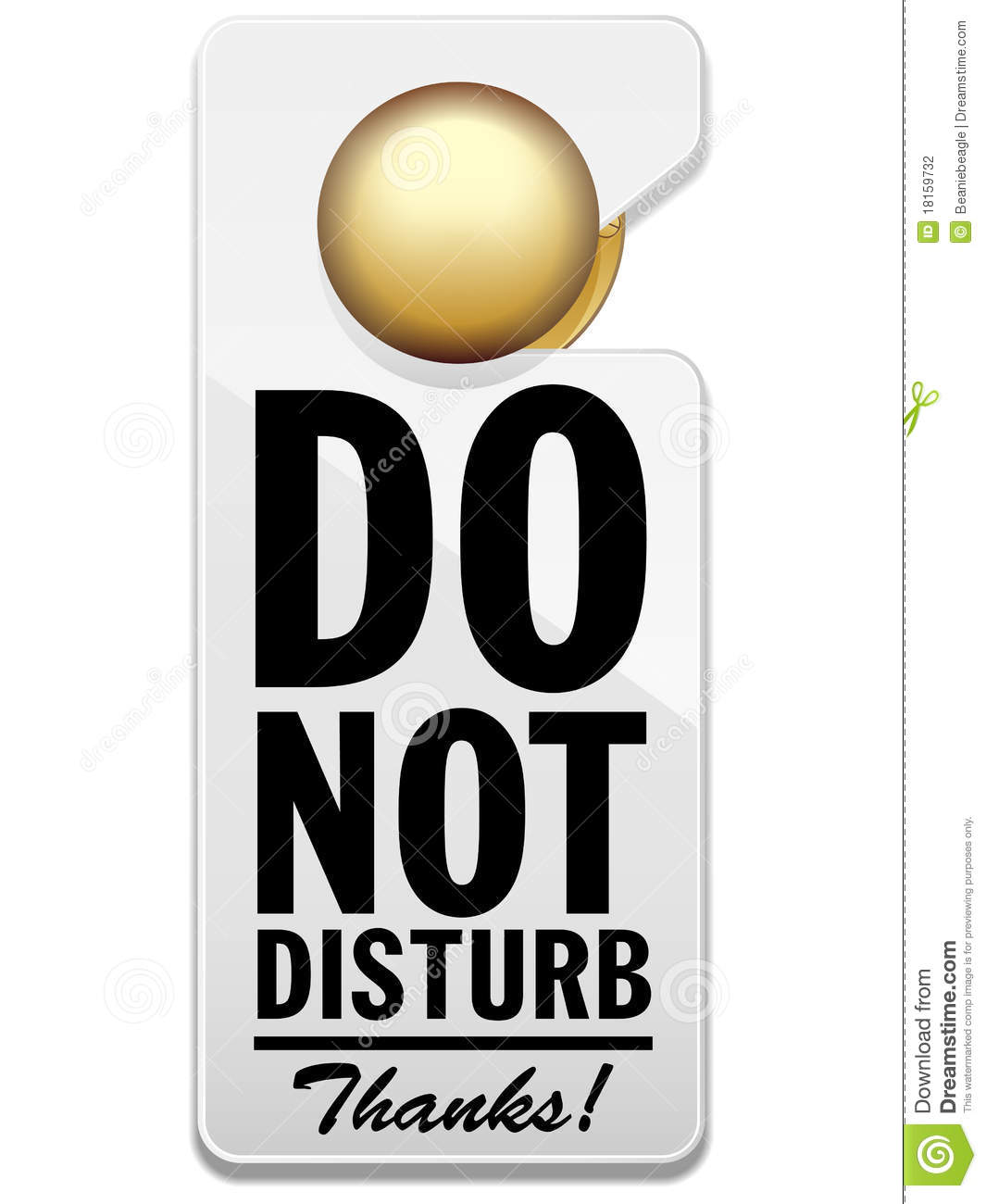 Do Not Disturb Sign Stock Vector Image Of Hung Away