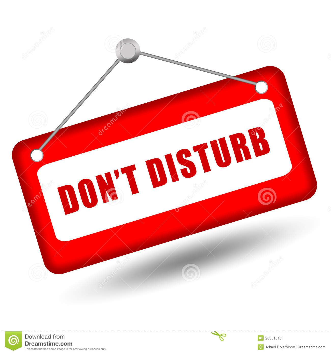 Royalty Free Stock Photos Do Not Disturb Sign Image20361018 on White House 3d Blueprint