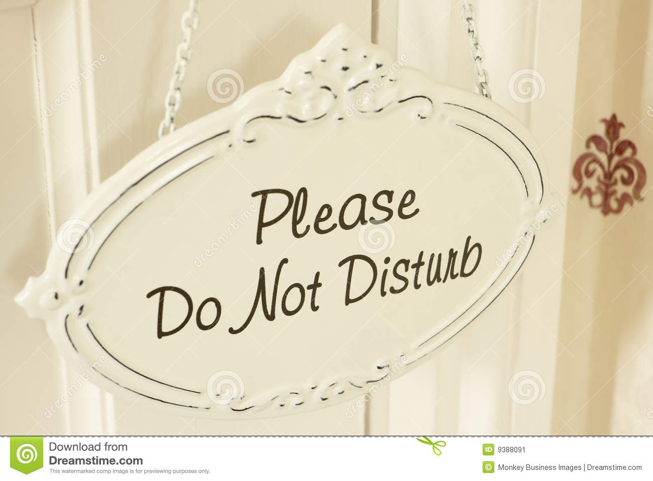 Do Not Disturb Sign Hanging On Door Stock Image Image