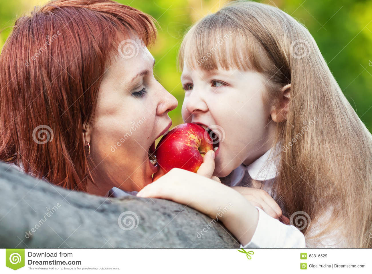 Download Do Not Eat My Tasty Apple. It`s Only Mine. Stock Image - Image of nature, caucasian: 68816529