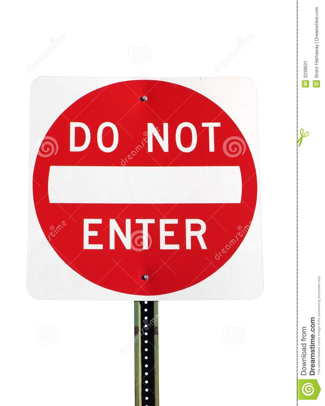 Download Do Not Enter stock image. Image of prohibited, wrong, symbol - 3239631