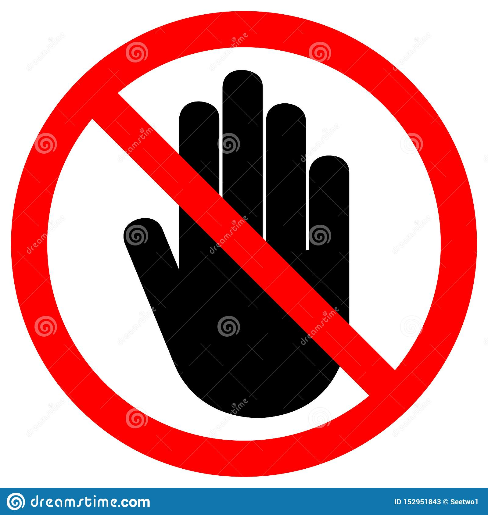 Do Not Entry Symbol Sign Isolate On White Background