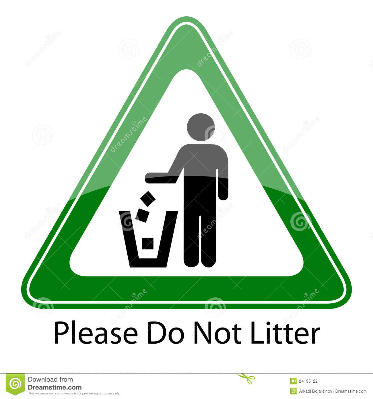 Do Not Litter Sign Stock Photography - Image: 24135122