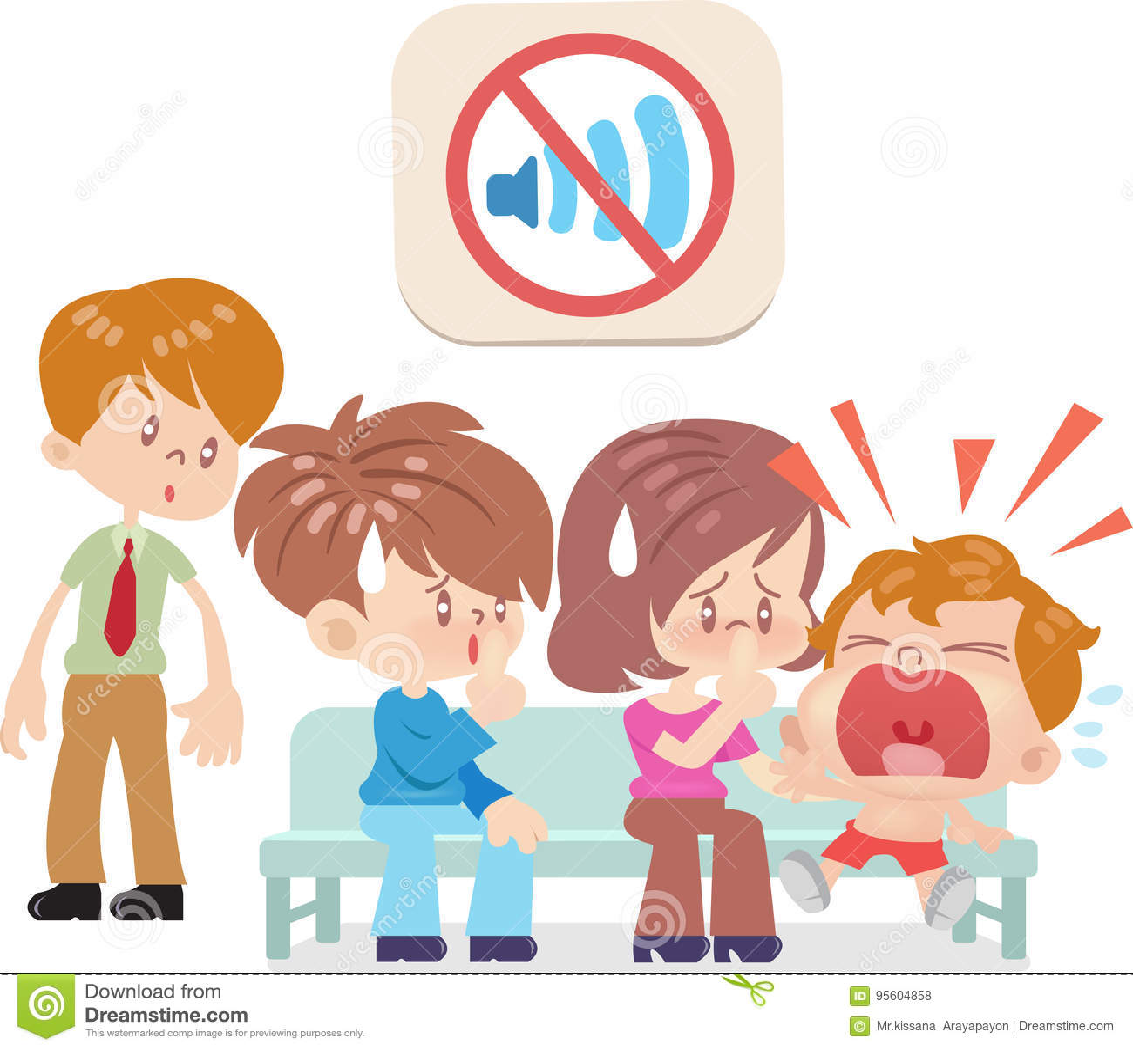 do not make loud noises stock vector illustration of make 95604858