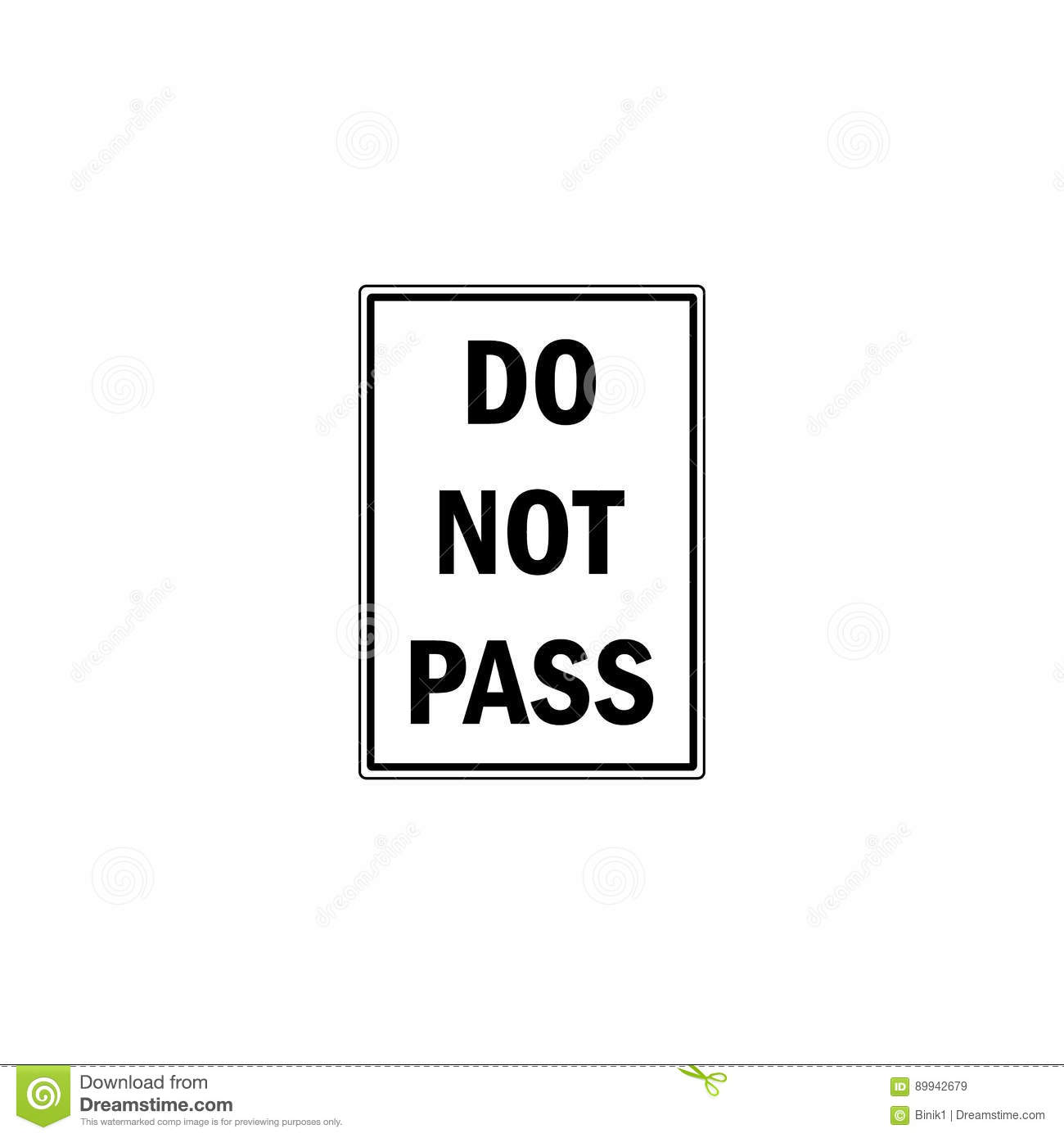 do not pass sign stock vector image of lane rules